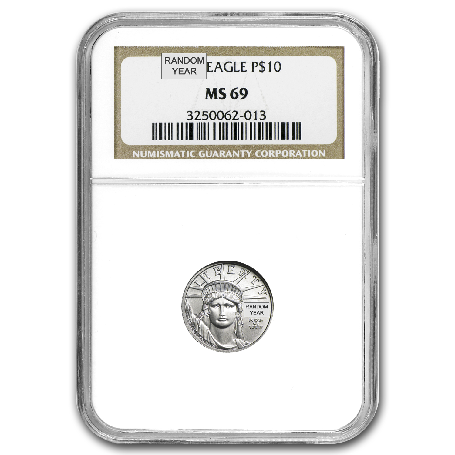 1/10 oz Platinum American Eagle MS-69 NGC (Random Year)