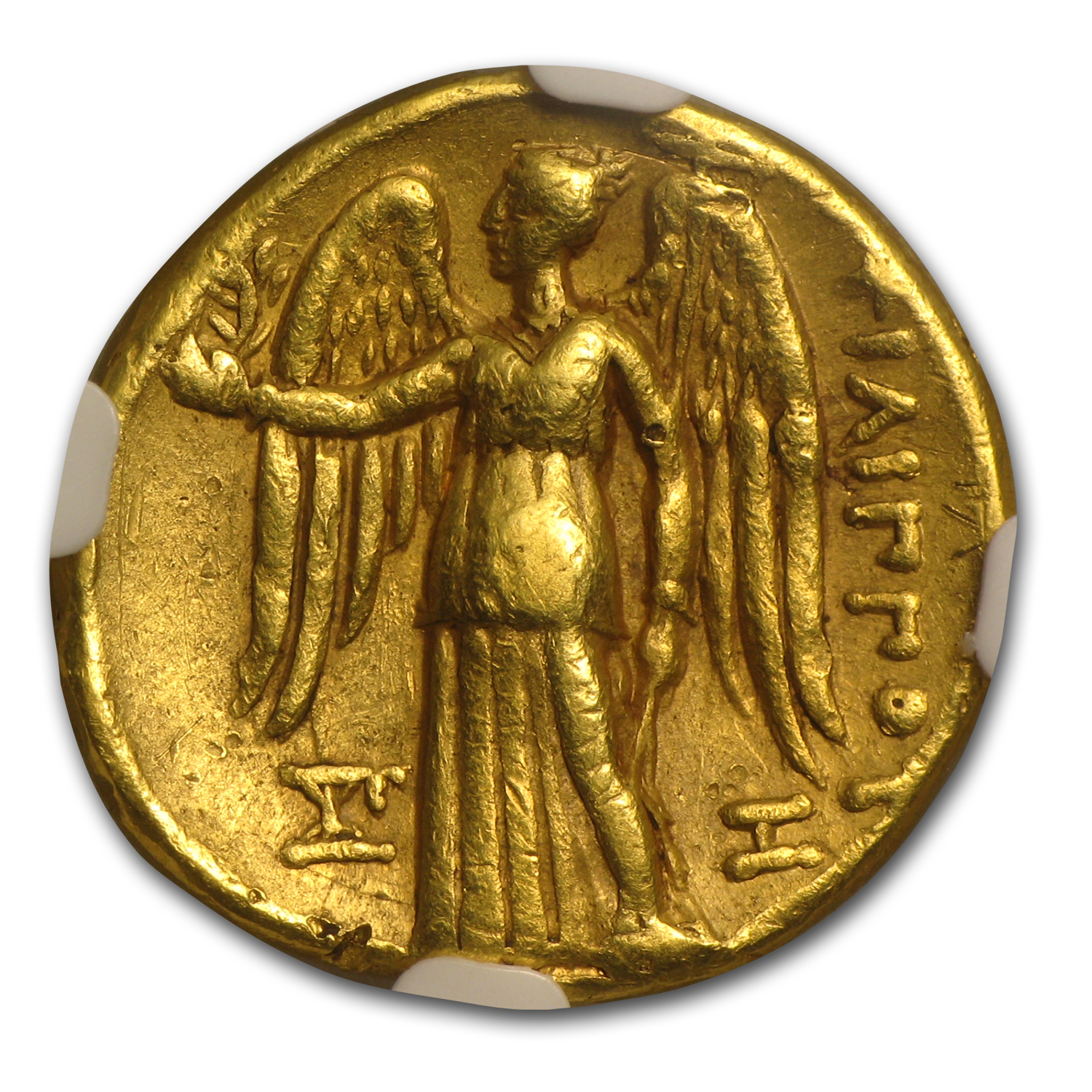 Macedonia Gold Stater of Philip III XF NGC (323-317 BC)