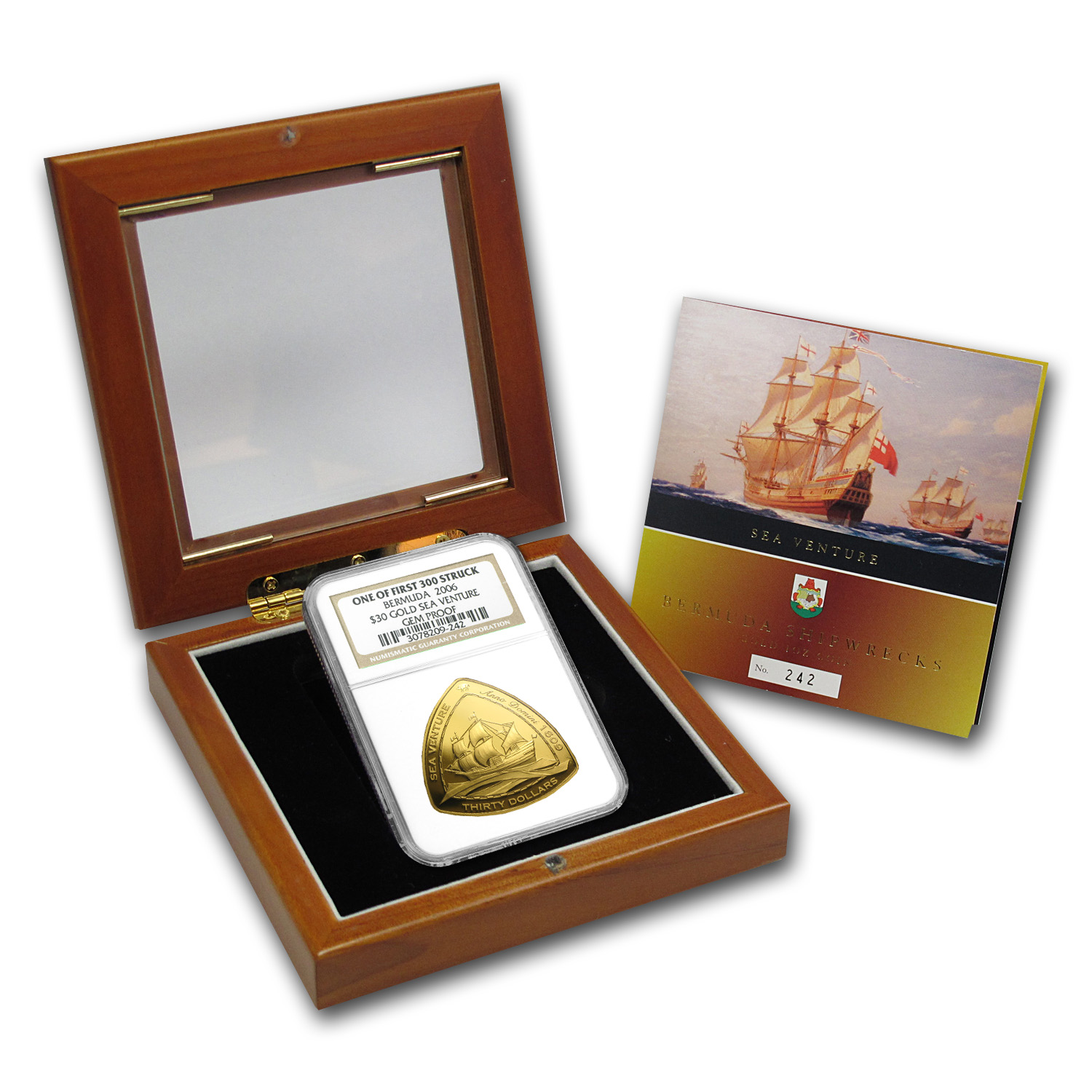 2006 Bermuda 1 oz Proof Gold $30 Triangle Gem Proof NGC