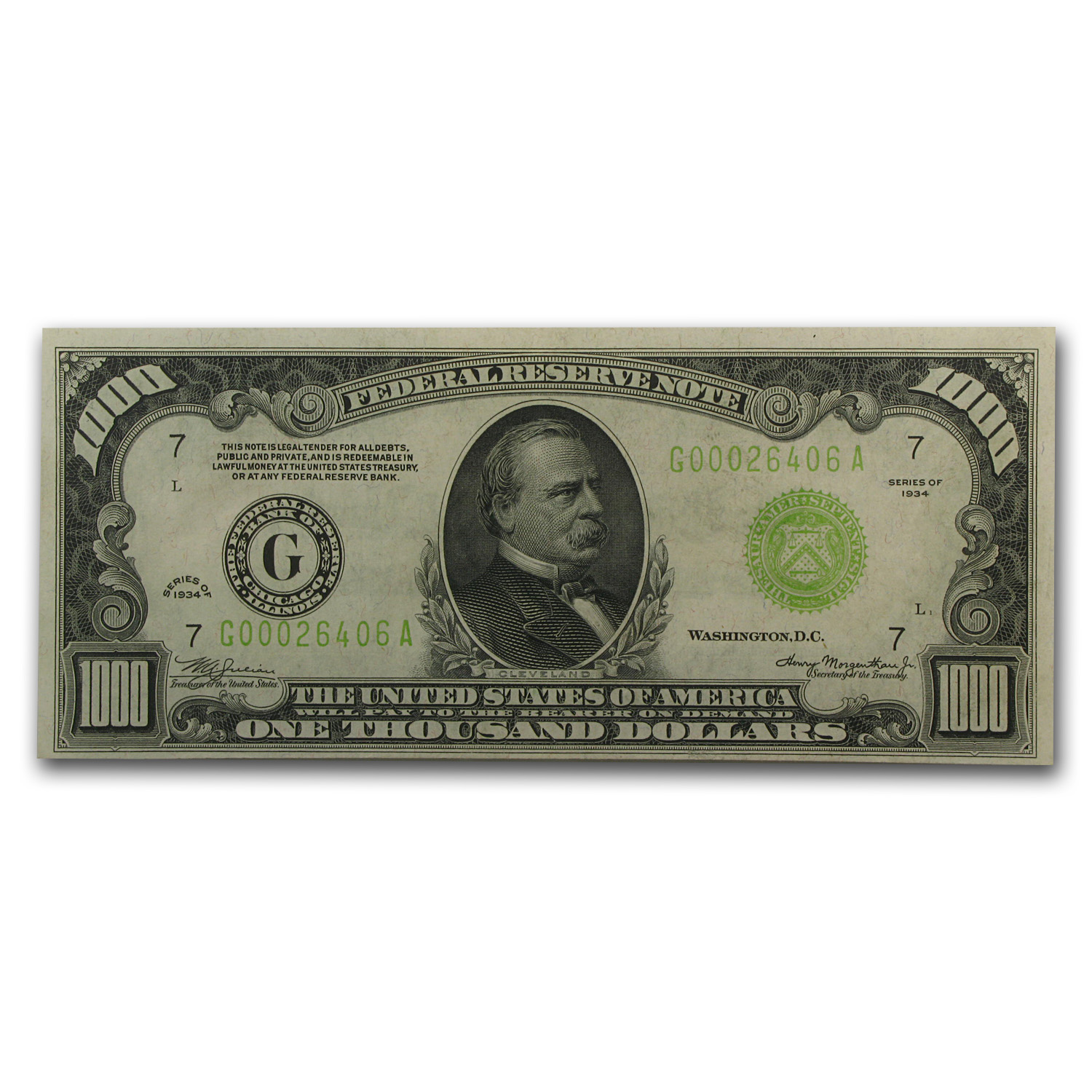 1934 (G-Chicago) $1,000 FRN (Crisp Uncirculated) LGS