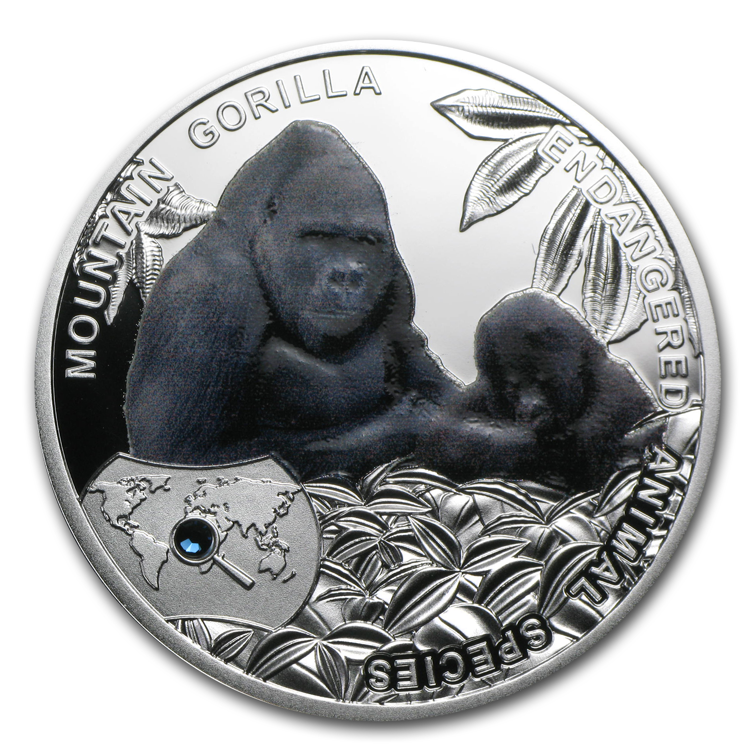 2014 Niue Proof Silver Endangered Animal Species Mountain Gorilla