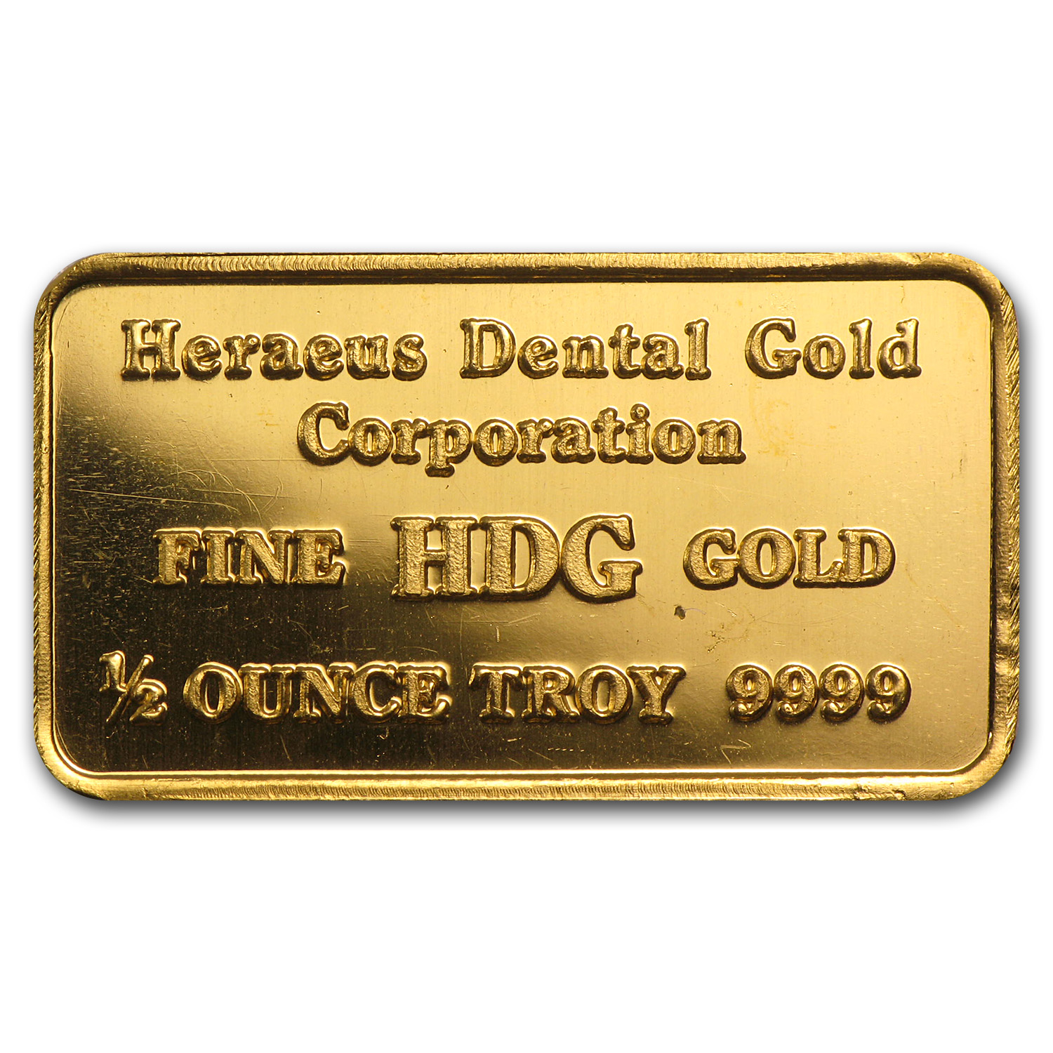 1/2 oz Gold Bars - Heraeus (HDG)