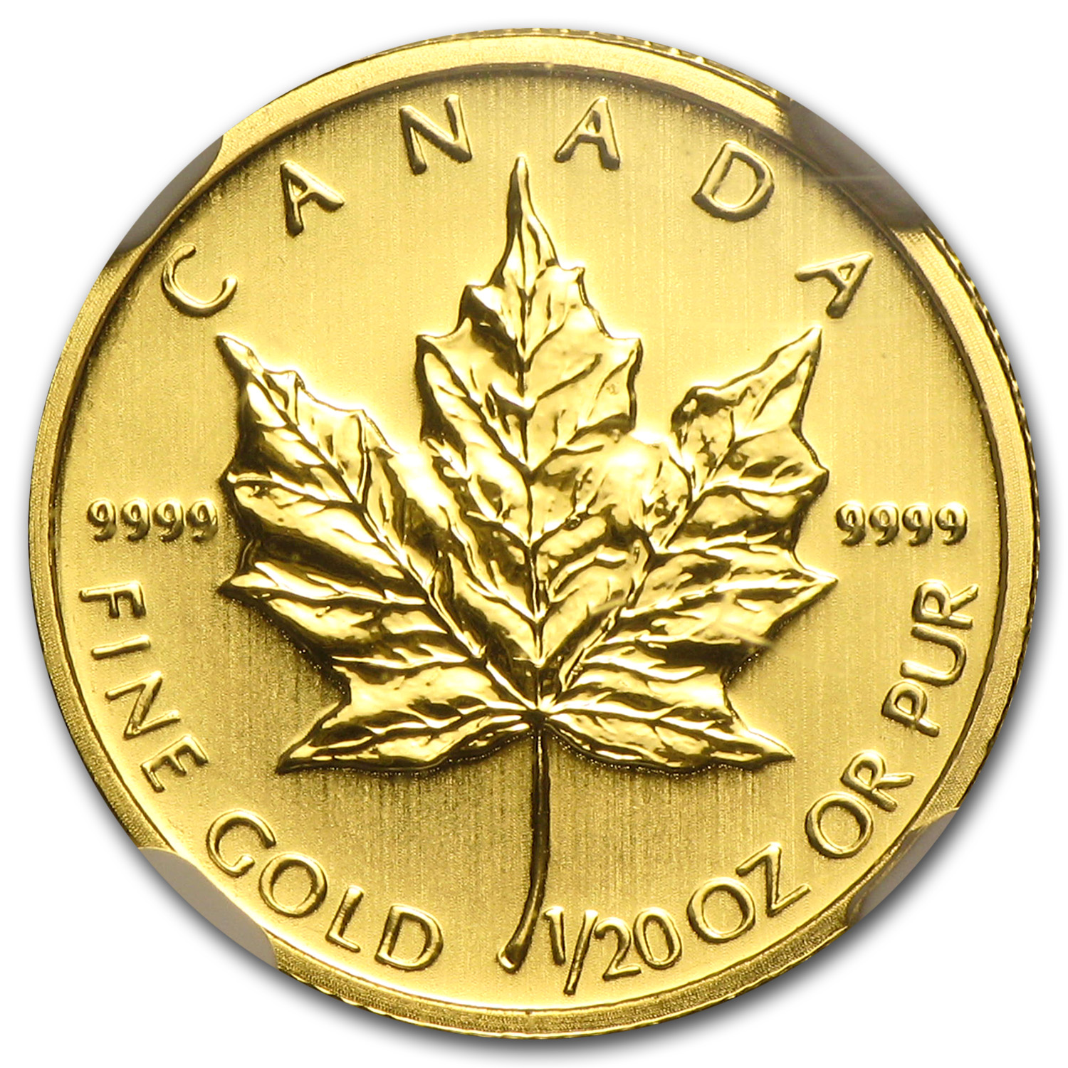 2012 Canada 1/20 oz Gold Maple Leaf MS-69 NGC