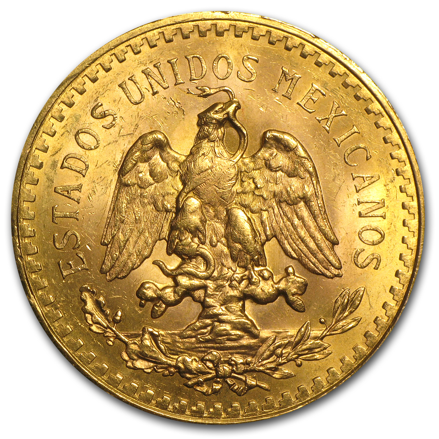 1928 Mexico Gold 50 Pesos BU