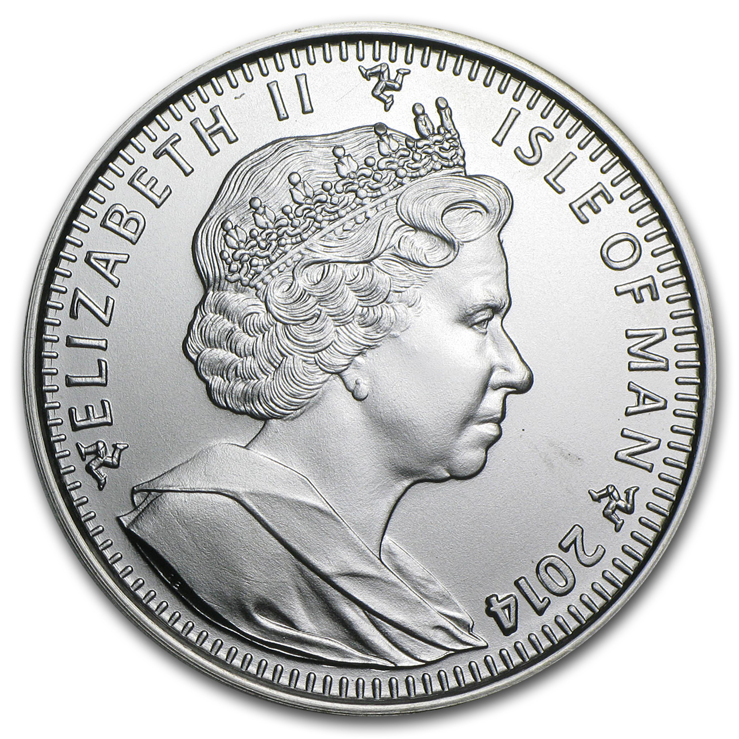 2014 Isle of Man 1 oz Silver Angel BU
