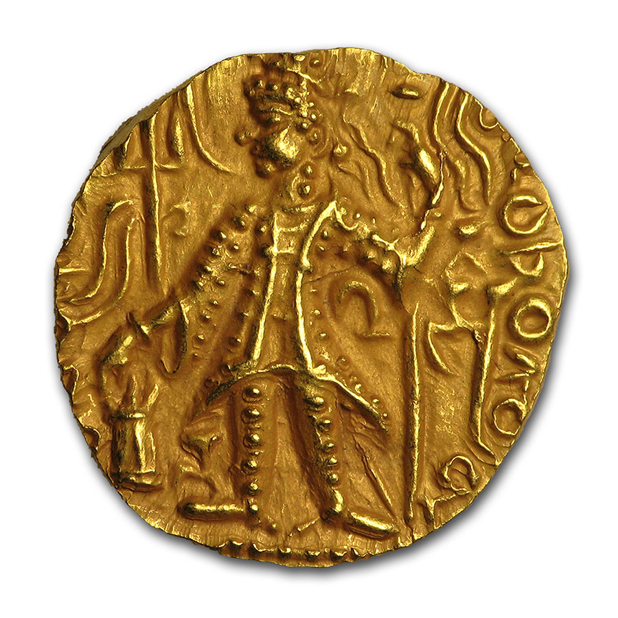 Kushan Gold Stater (290-310AD) XF