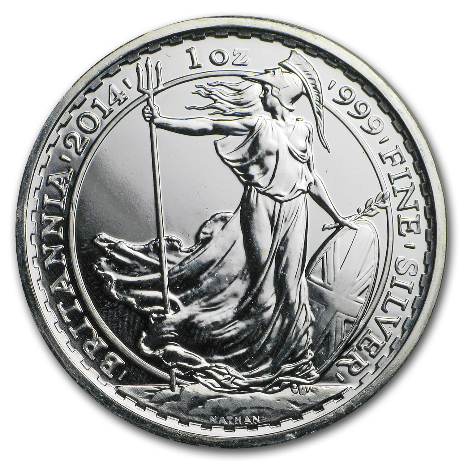 2014 1 oz Silver Britannia Year of the Horse Privy (Abrasions)