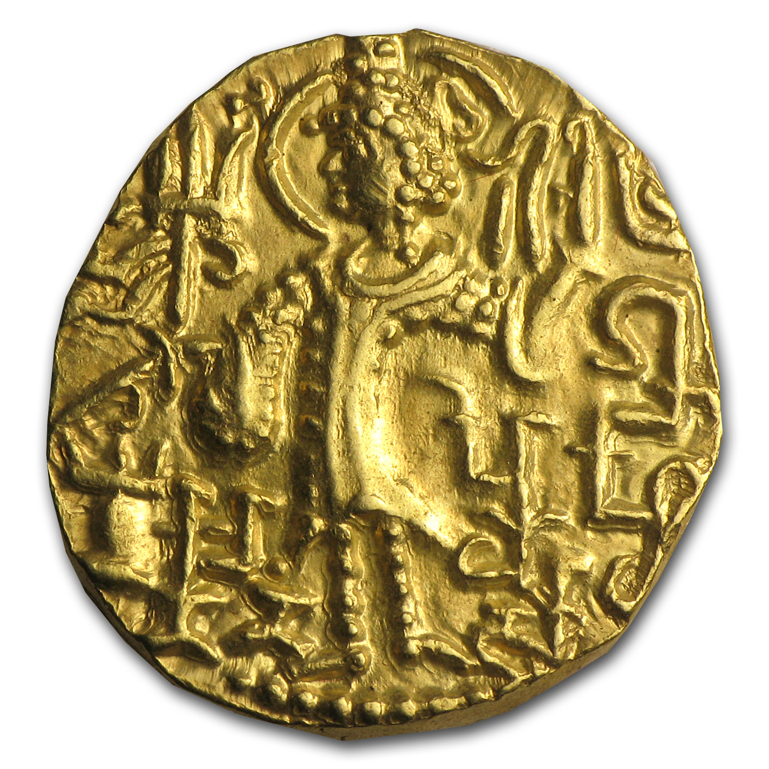 Kushan Gold Stater (Mid 4th Cent AD) XF+