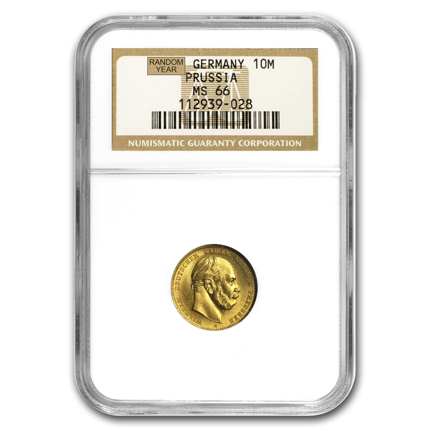 Germany Gold 10 Marks (Prussia) (1872-1873) (MS-66 NGC)