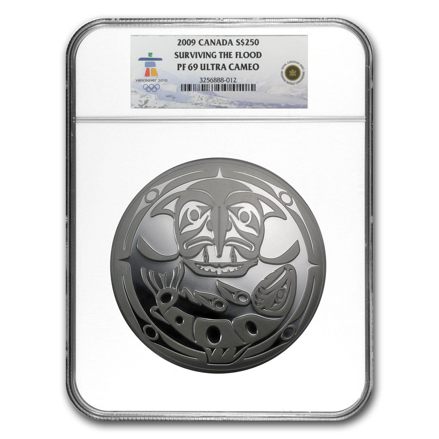 2009 1 Kilo Silver Canadian $250 Surviving the Flood PF-69 NGC