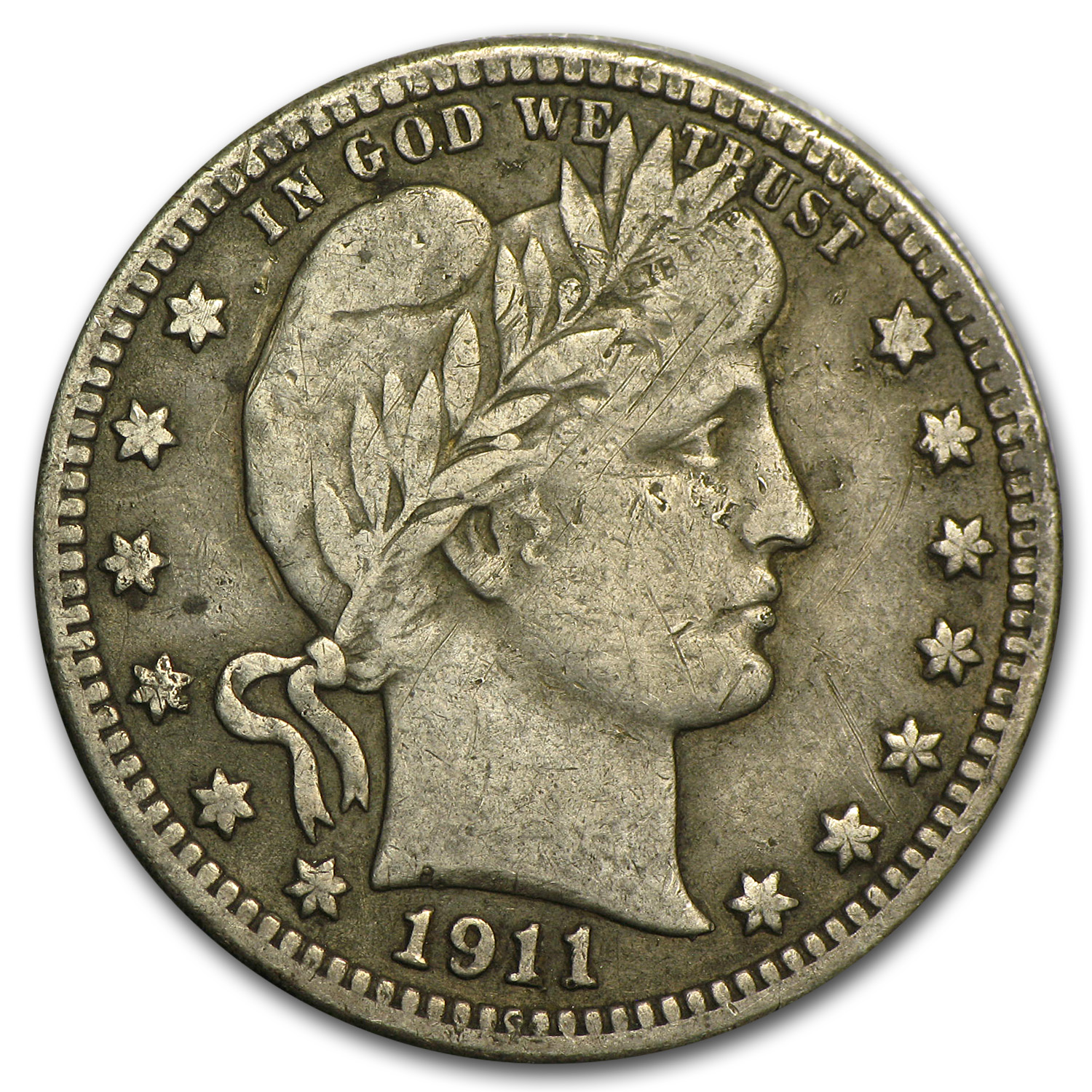 1911-S Barber Quarter VF