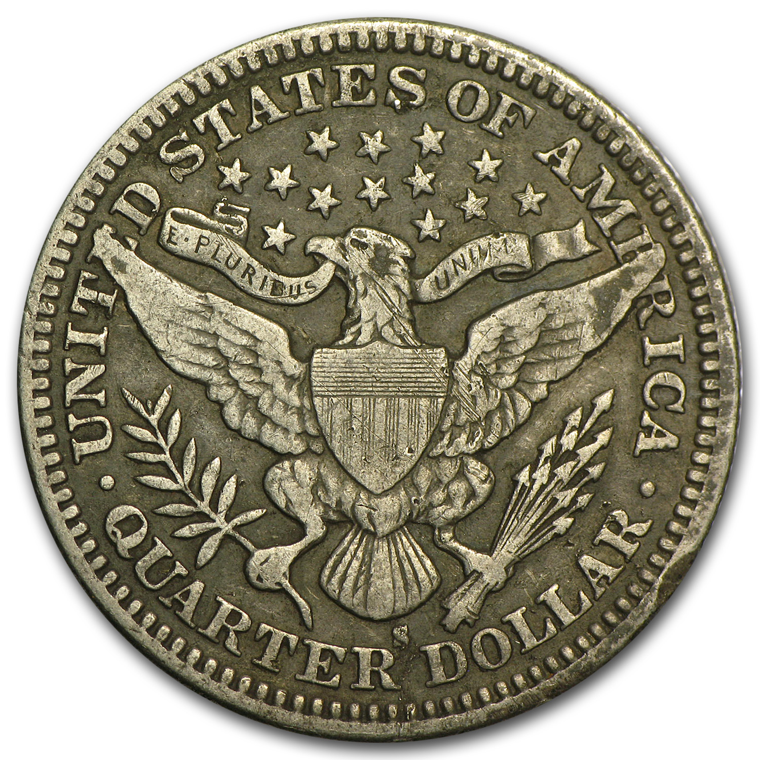 1911-S Barber Quarter - Very Fine