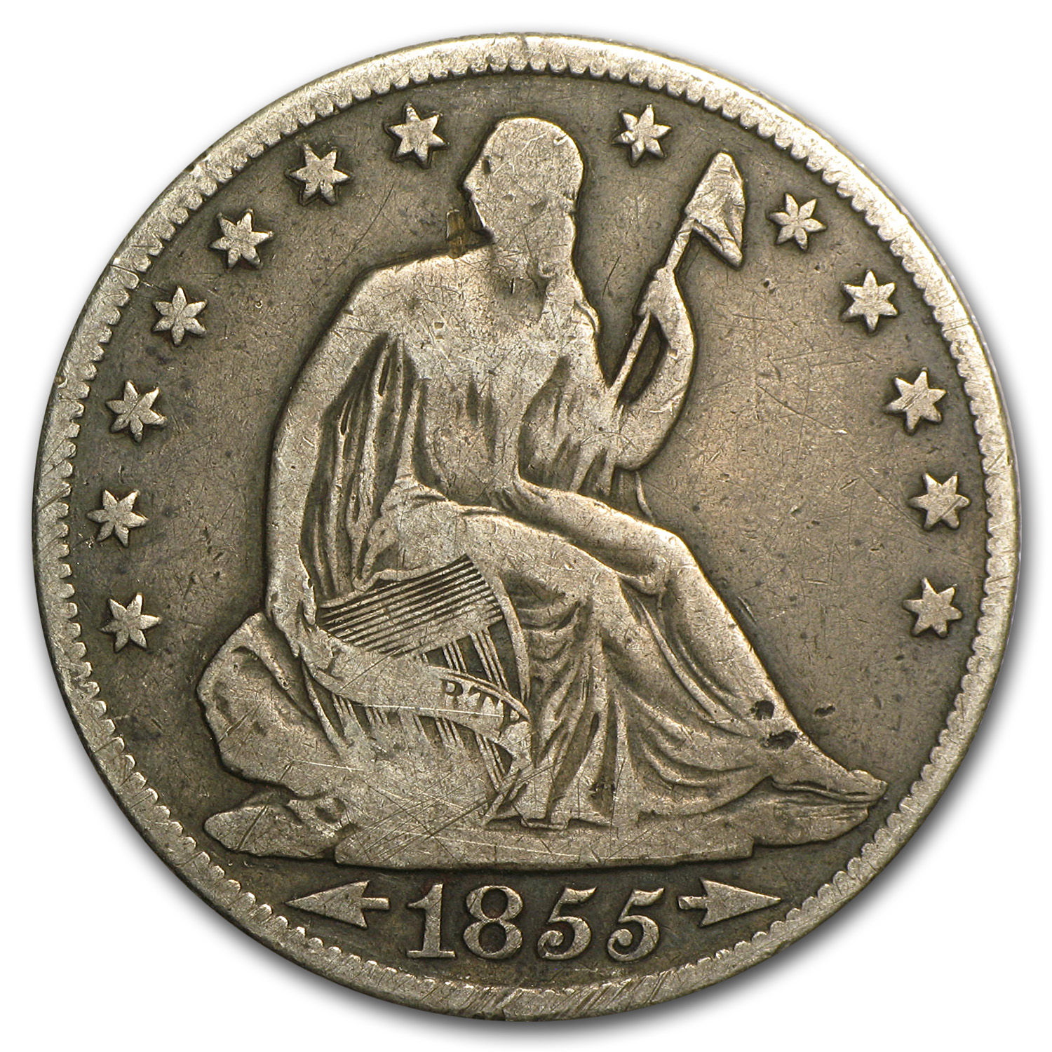 1855-O Liberty Seated Half Dollar w/Arrows Fine