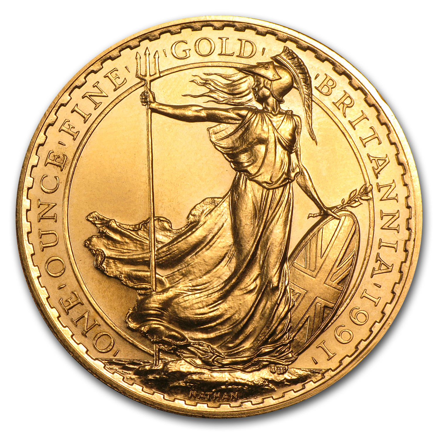 1 oz Gold Britannia Proof (Random Year, Abrasions)