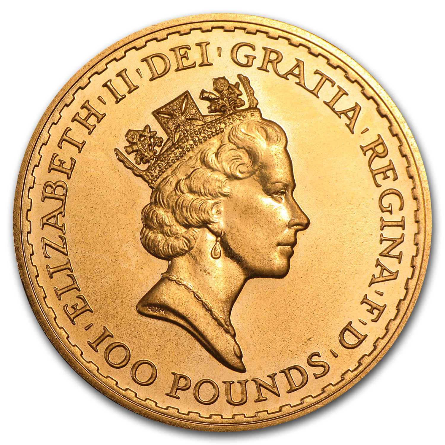 1 oz Gold Britannia - Proof - Random Year - Abrasions
