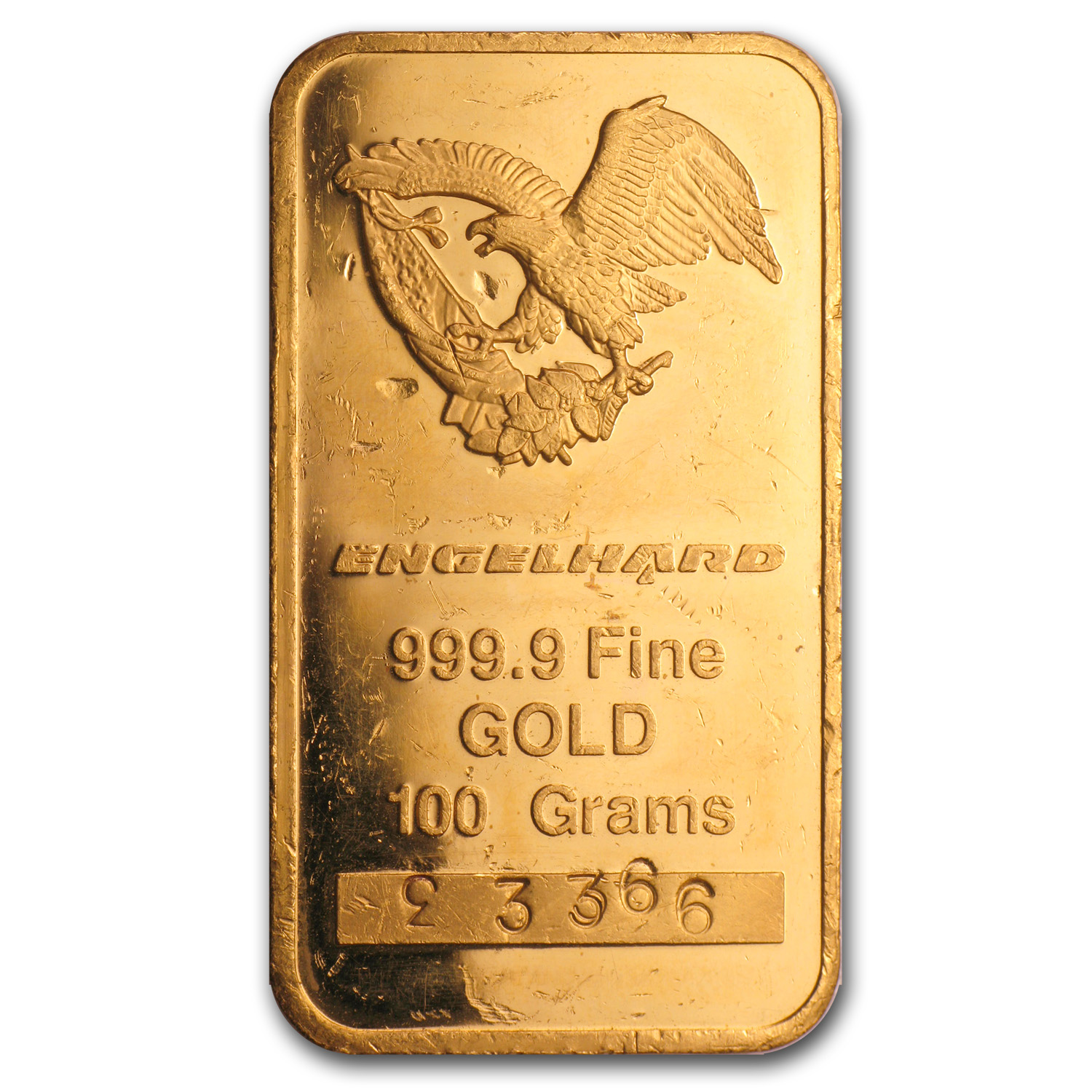 100 gram Gold Bars - Engelhard ('Eagle' Logo)