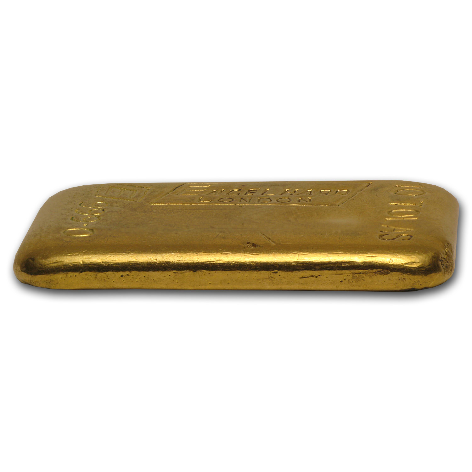 10 Tolas Gold Bars - Engelhard-London (Poured, 3.75 oz)
