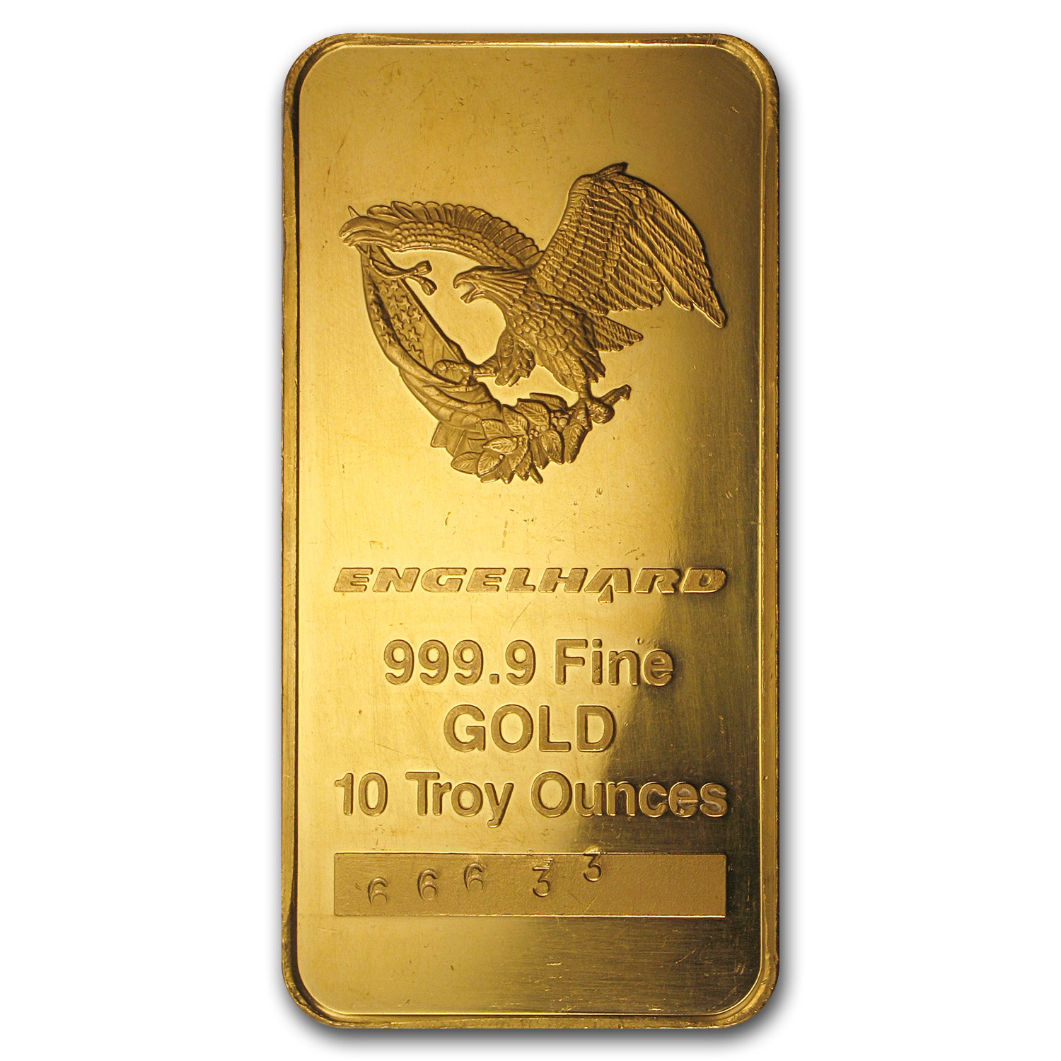 10 oz Gold Bar - Engelhard ('Eagle Logo')
