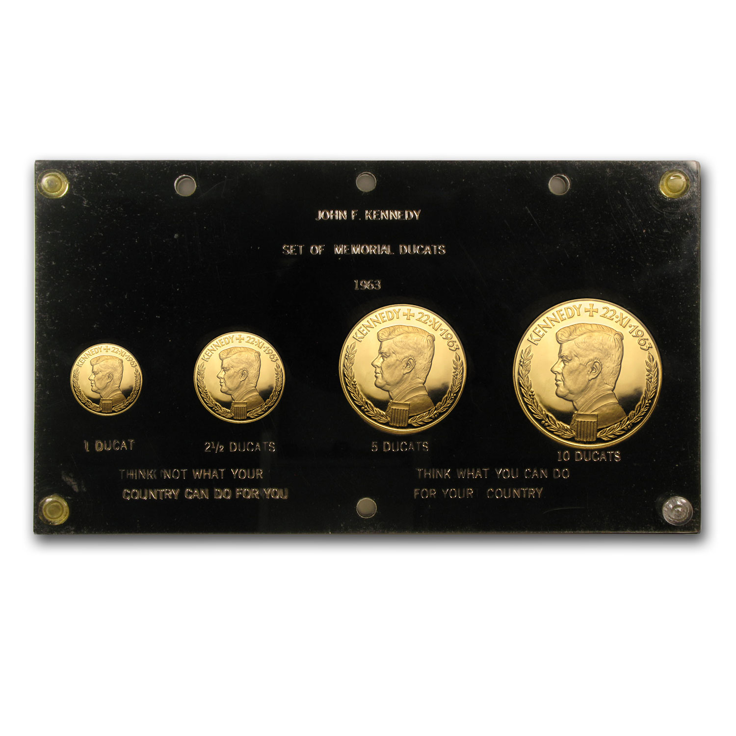 1963 Germany 4 Coin Gold Jfk Medallic Set Gold Coins