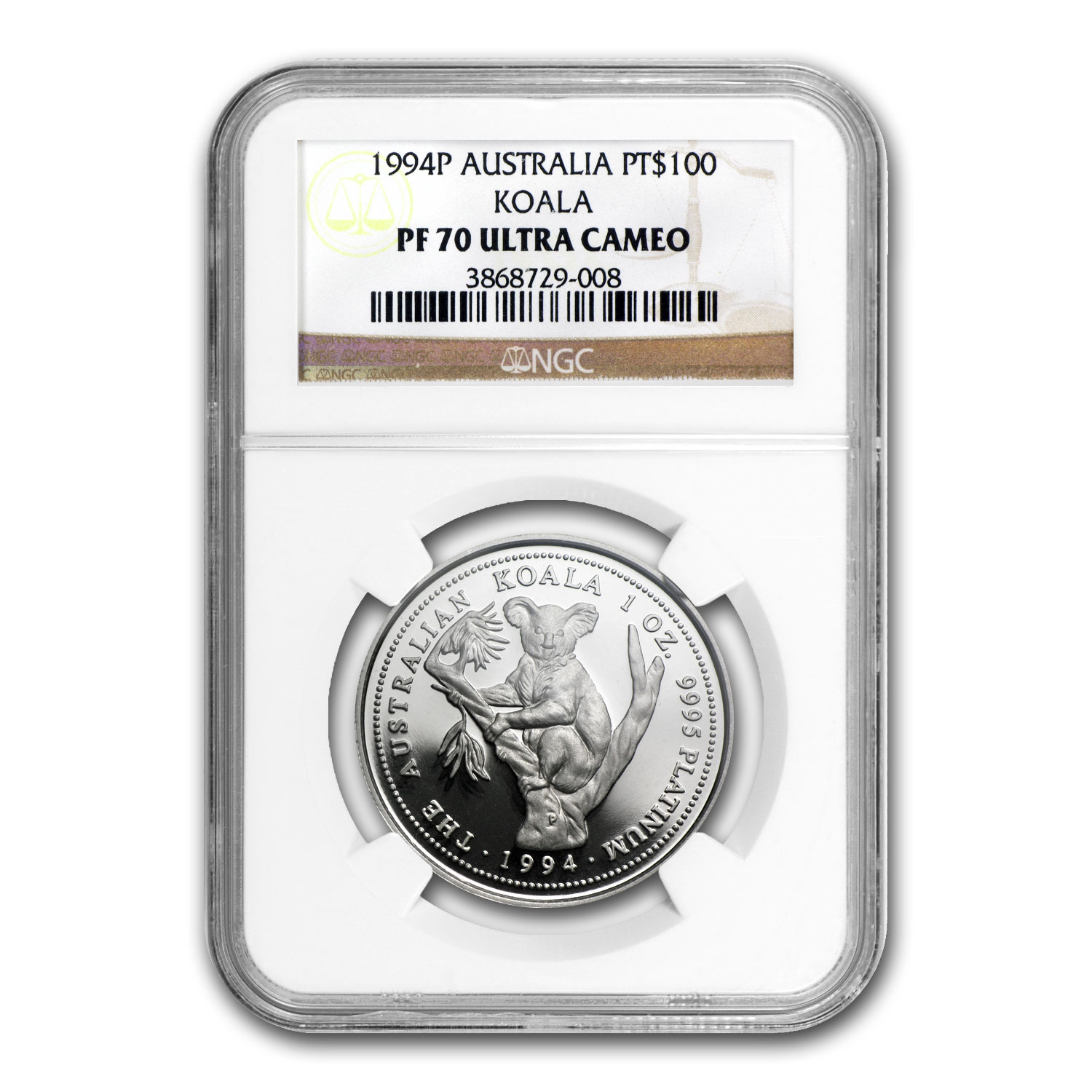 1994 Australia 1 oz Proof Platinum Koala PF-70 NGC