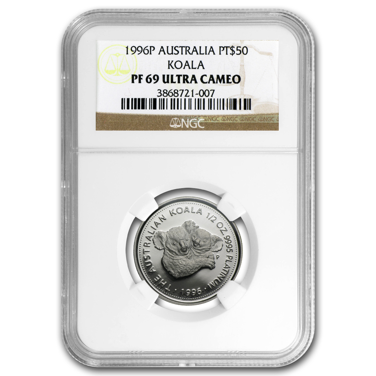 1996 Australia 1/2 oz Proof Platinum Koala PF-69 NGC