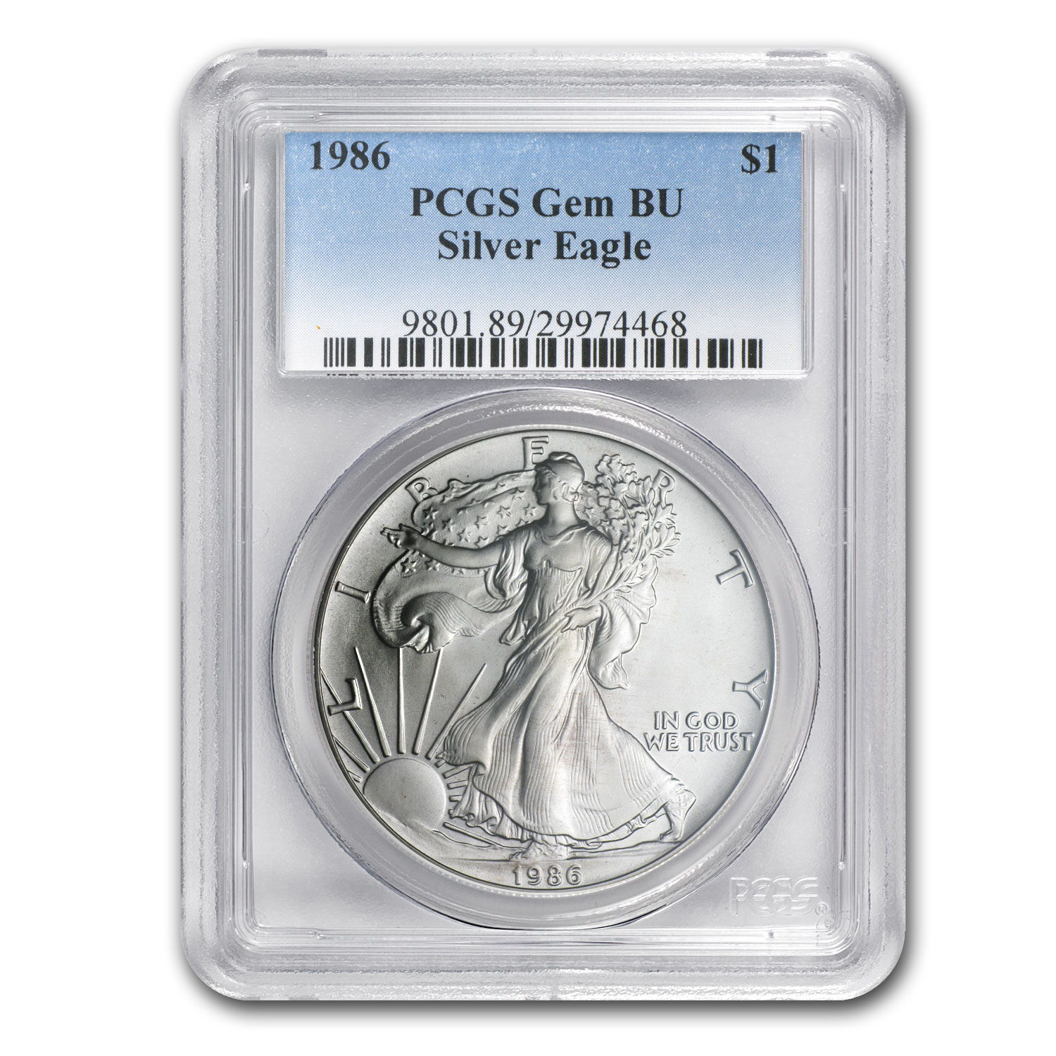 1986-2014 Silver American Eagle Set - Gem BU - PCGS Box