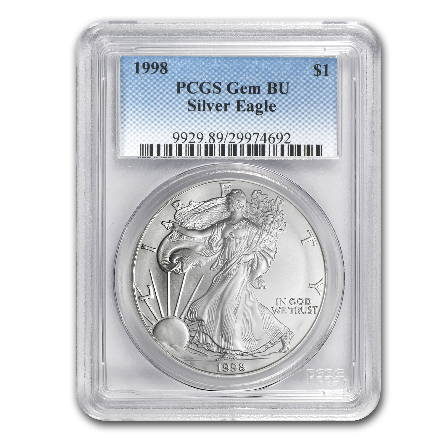 1986-2014 29-Coin Silver Eagle Set Gem BU (PCGS Box)