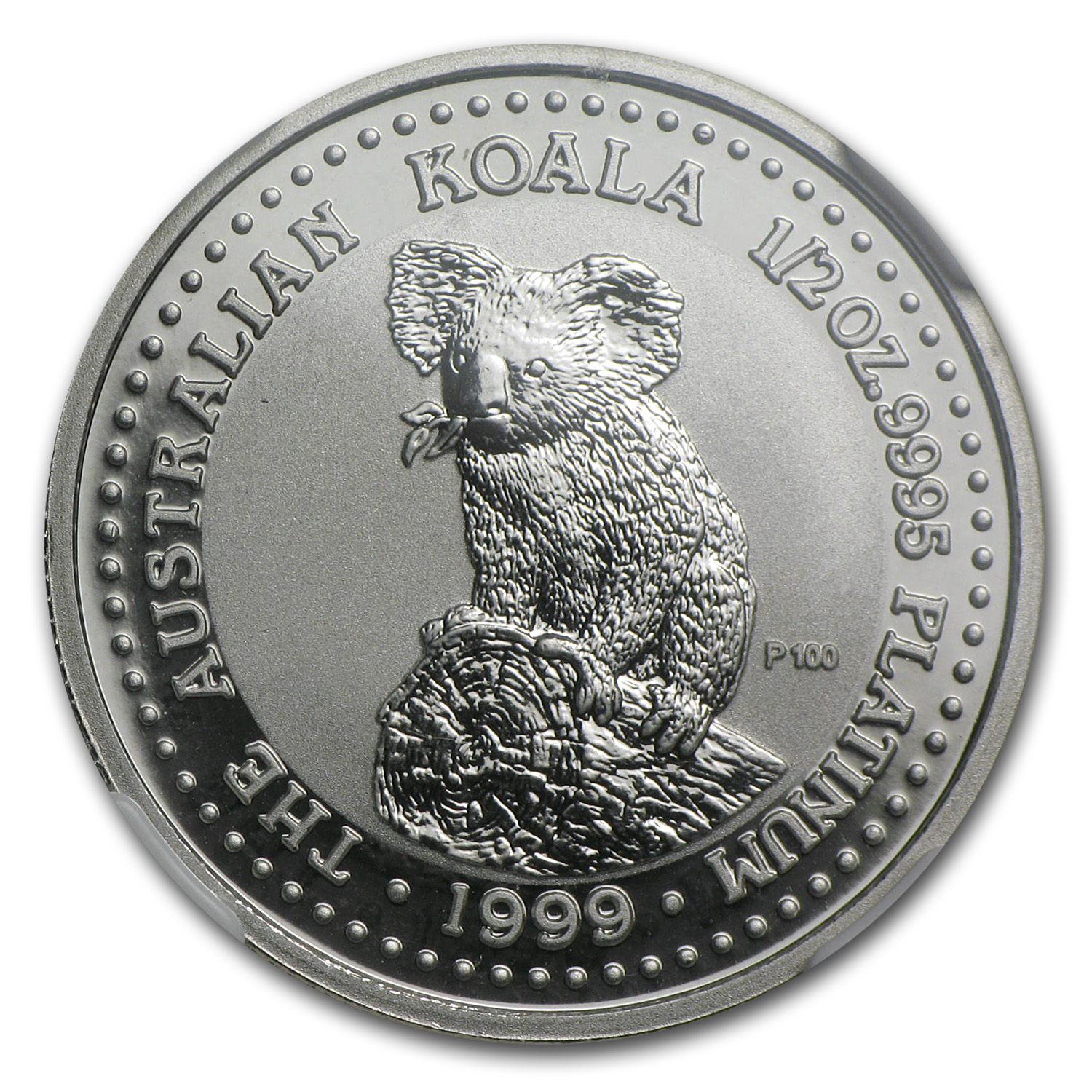 1999 1/2 oz Australian Platinum Koala MS-70 (Registry Set)