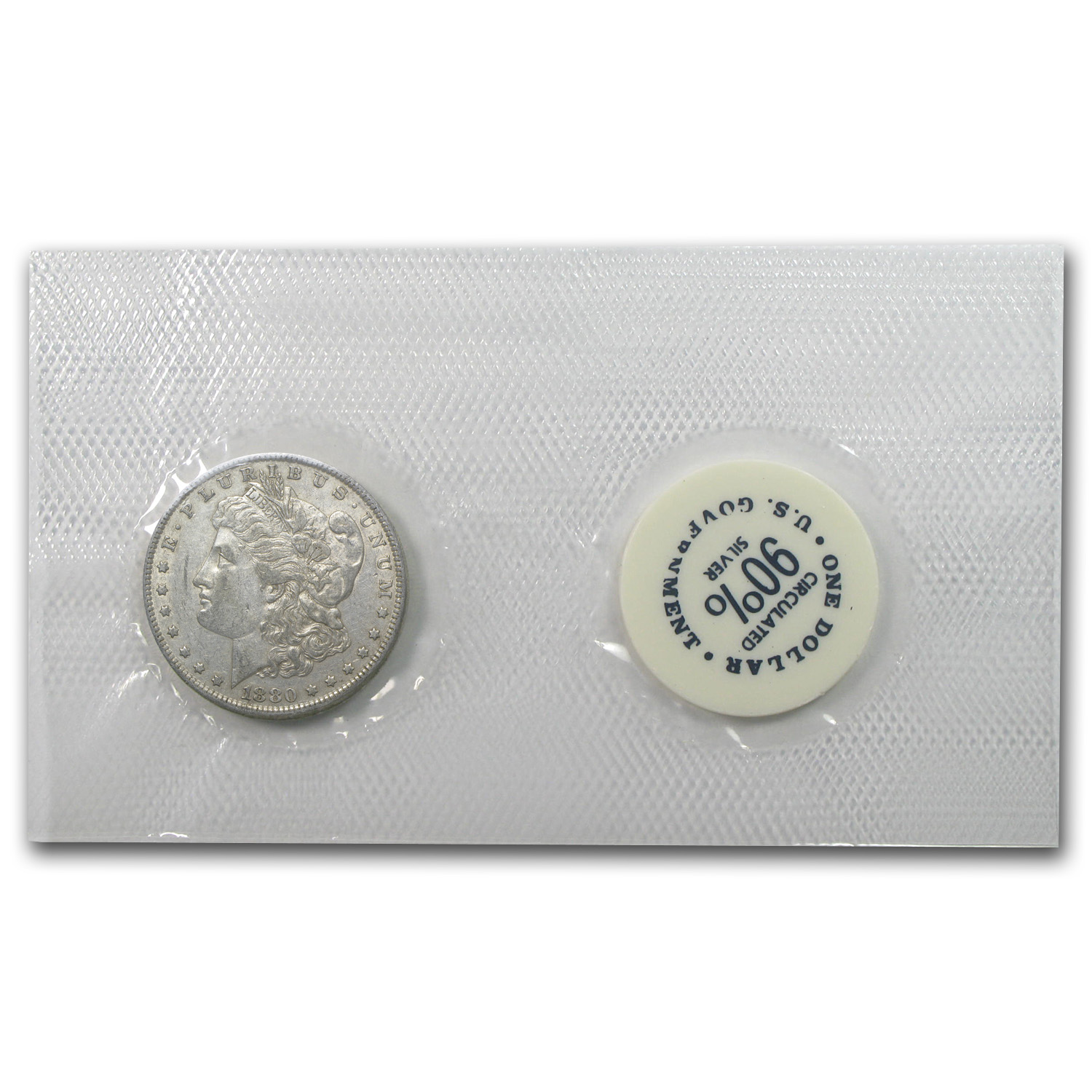 1880-O Morgan Dollar - Extra Fine-45 GSA Soft Pack