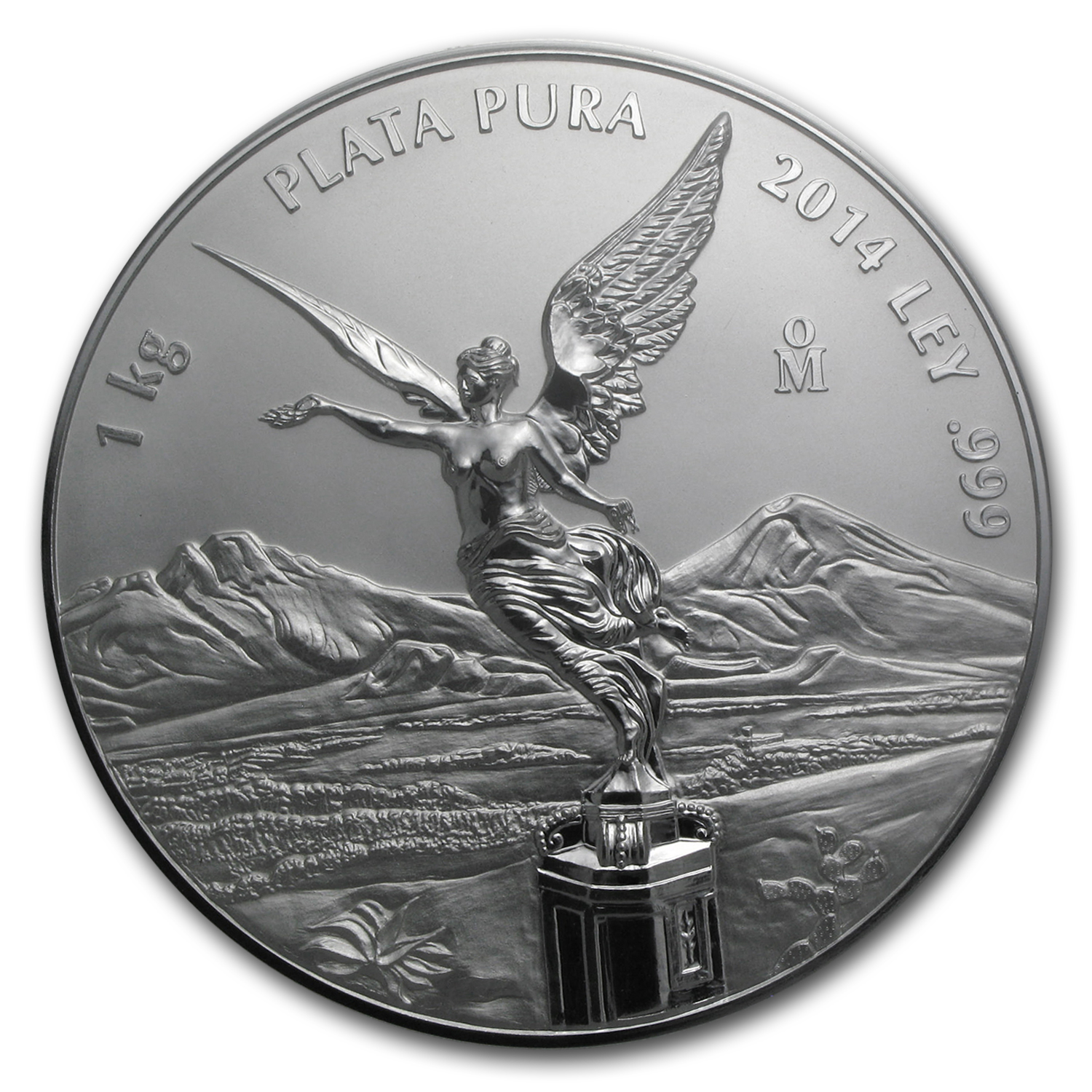 2014 Mexico 1 kilo Silver Libertad Proof Like (w/Box & COA)