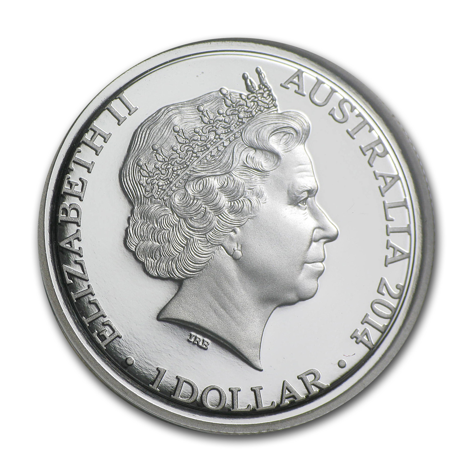 2014 Australia Silver $1 Kangaroo at Sunset