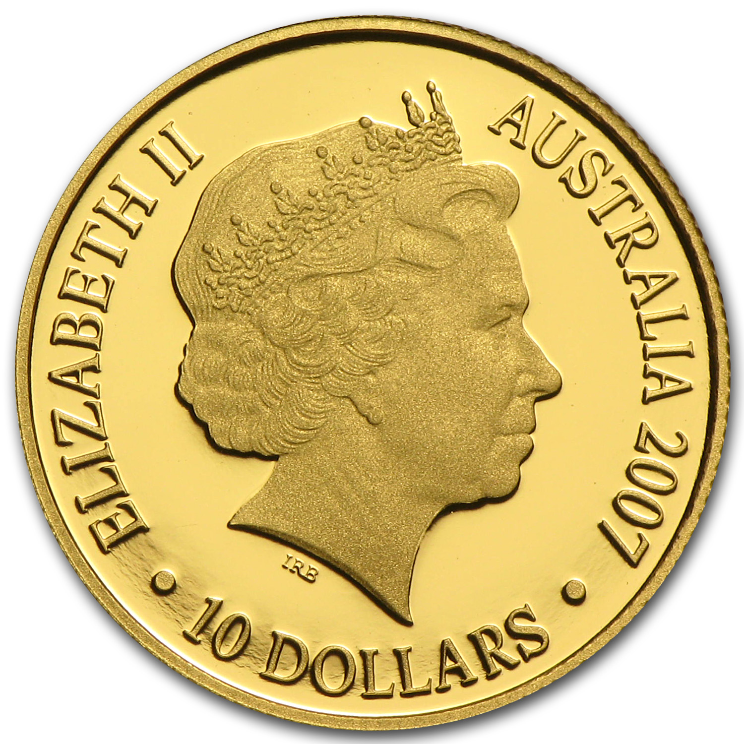 2007 Australia 1/10 oz Proof Gold Year of the Pig
