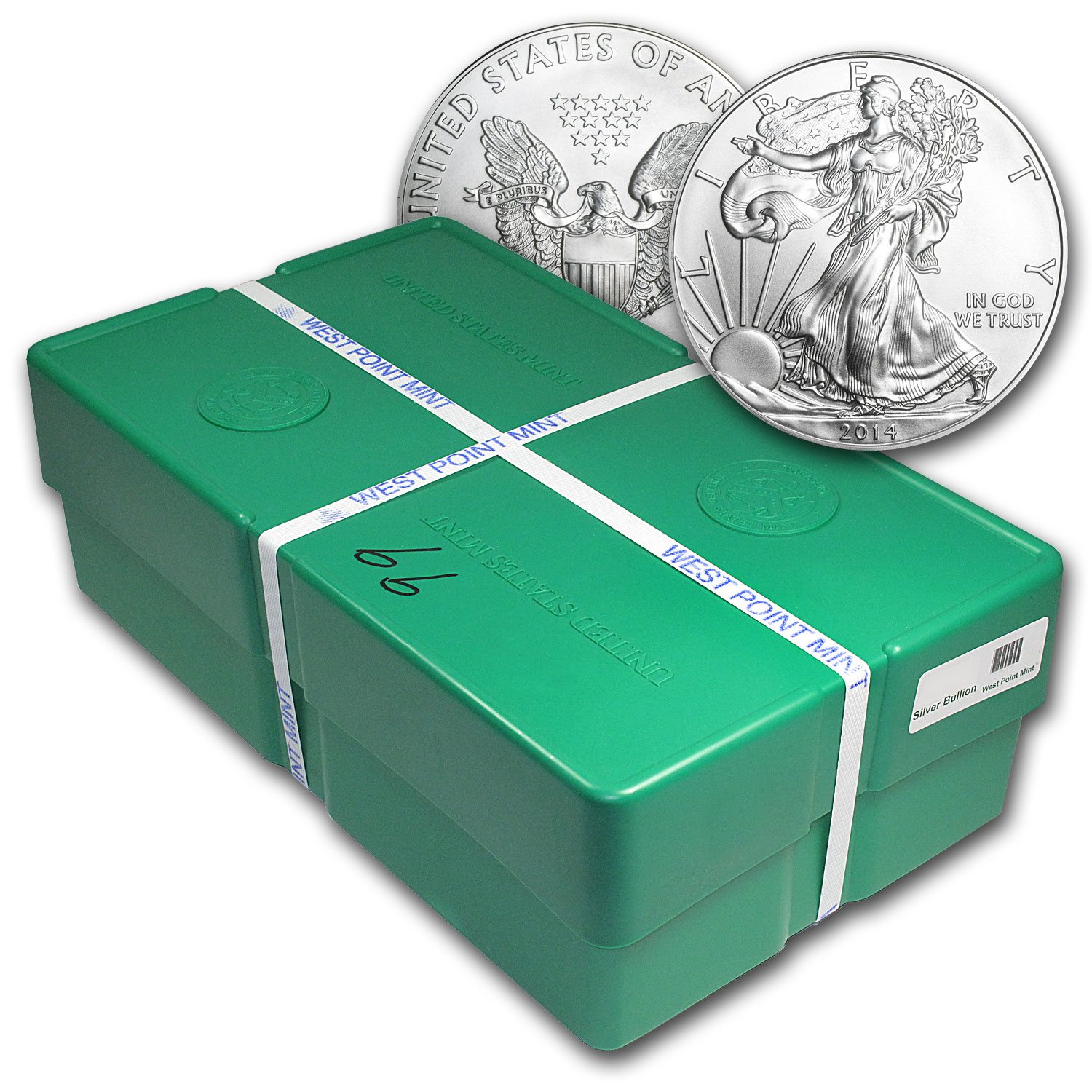 2014 500-Coin Silver Eagle Monster Box (WP Mint, Sealed)