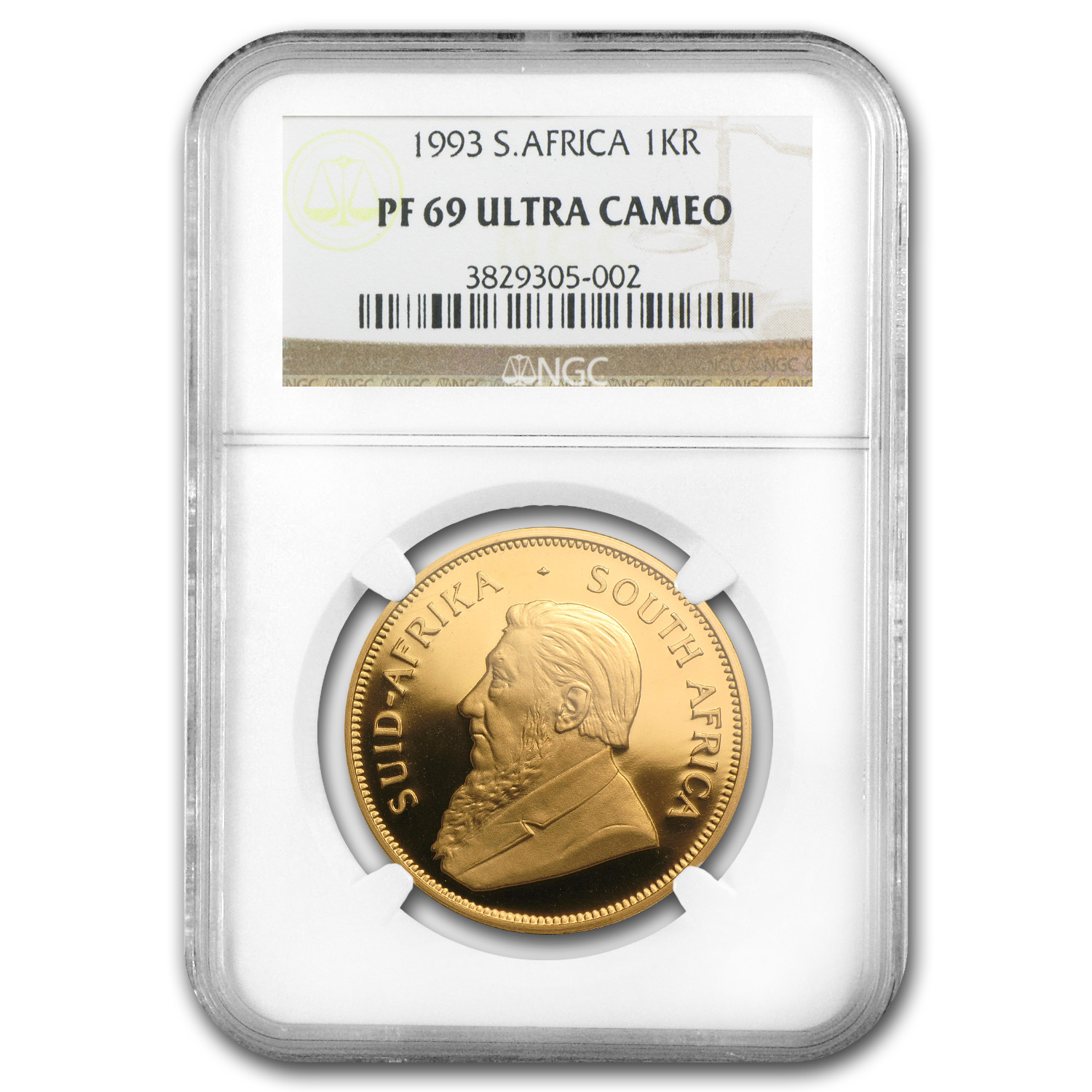 1993 South Africa 1 oz Gold Krugerrand PF-69 NGC