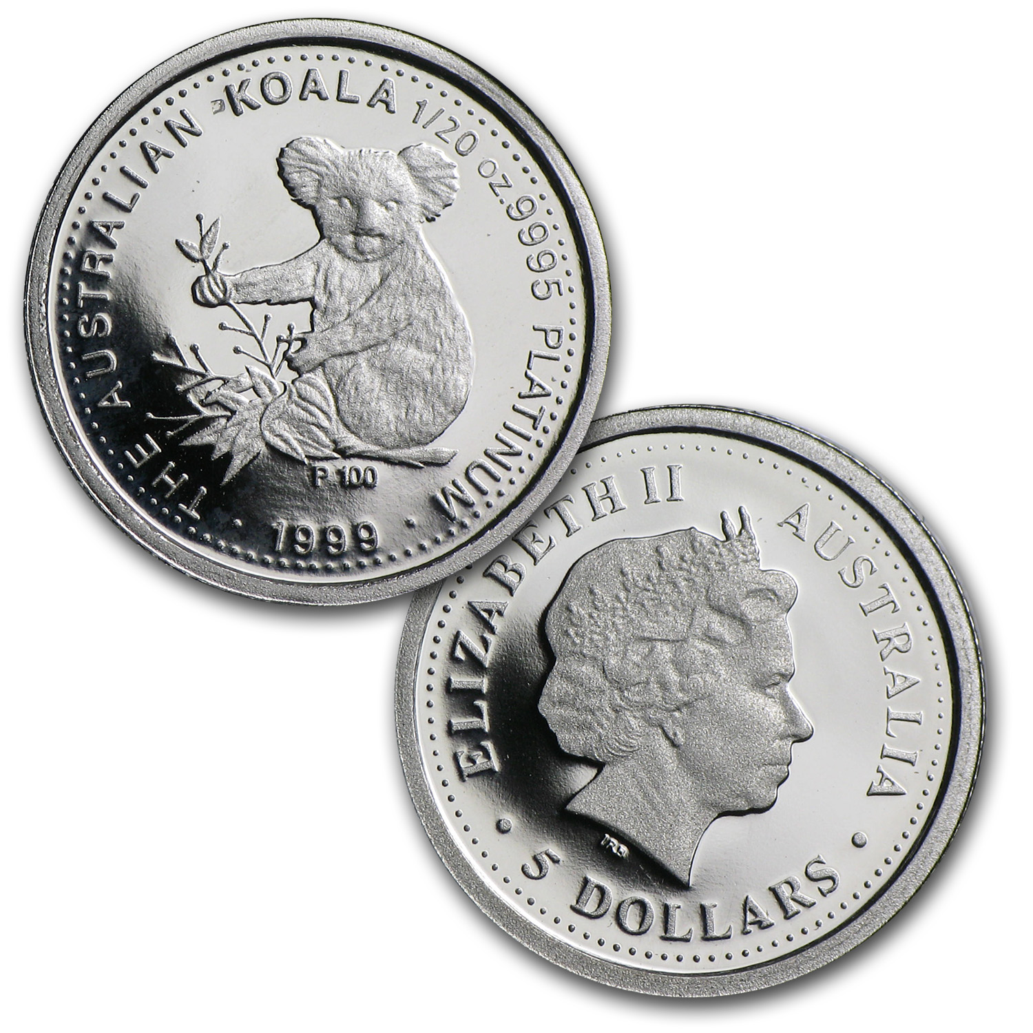 1999 5-Coin Proof Australian Platinum Koala Set