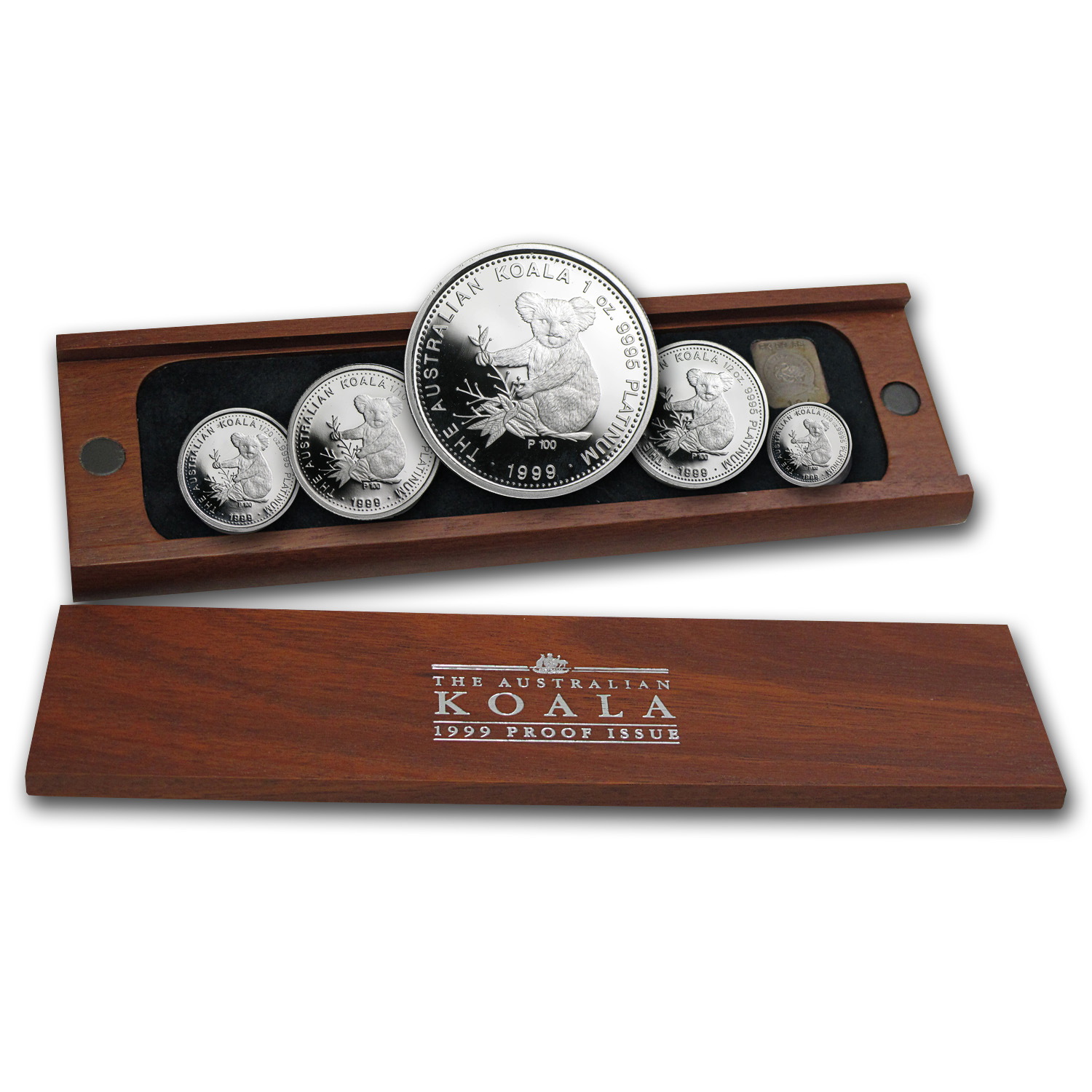 1999 Australia 5-Coin Platinum Koala Proof Set (1.9 oz)