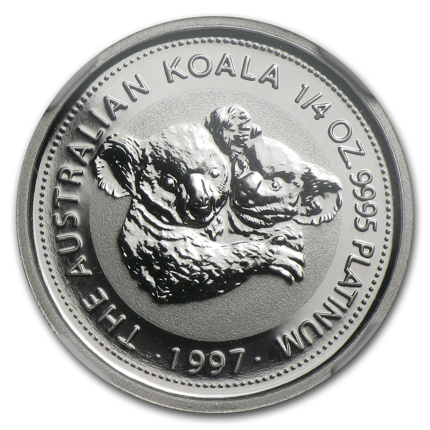 1997 1/4 oz Australian Platinum Koala MS-70 NGC (Registry Set)