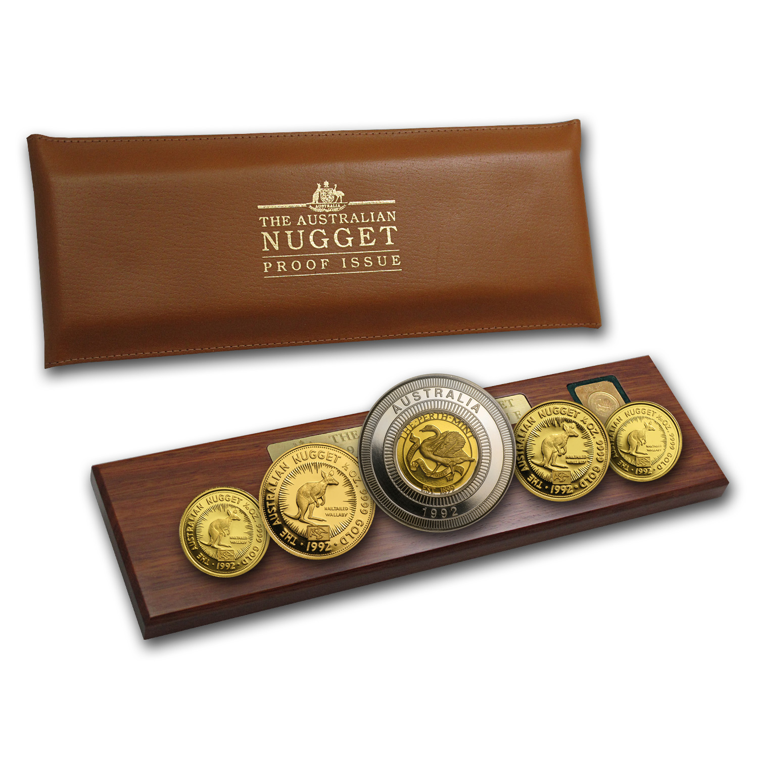 1992 Australia 5-Coin Gold Nugget Proof (Eagle Privy) (No COA)