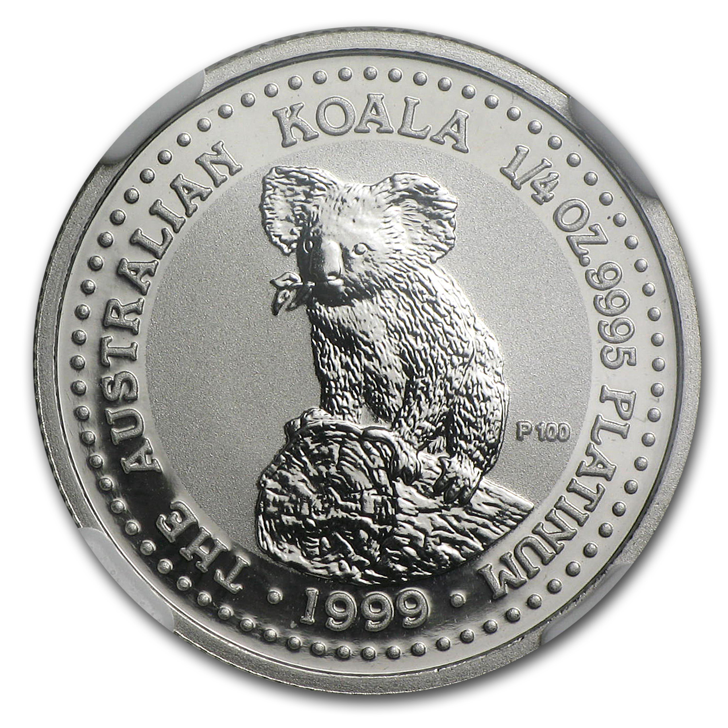 1999 1/4 oz Australian Platinum Koala MS-70 NGC (Registry Set)