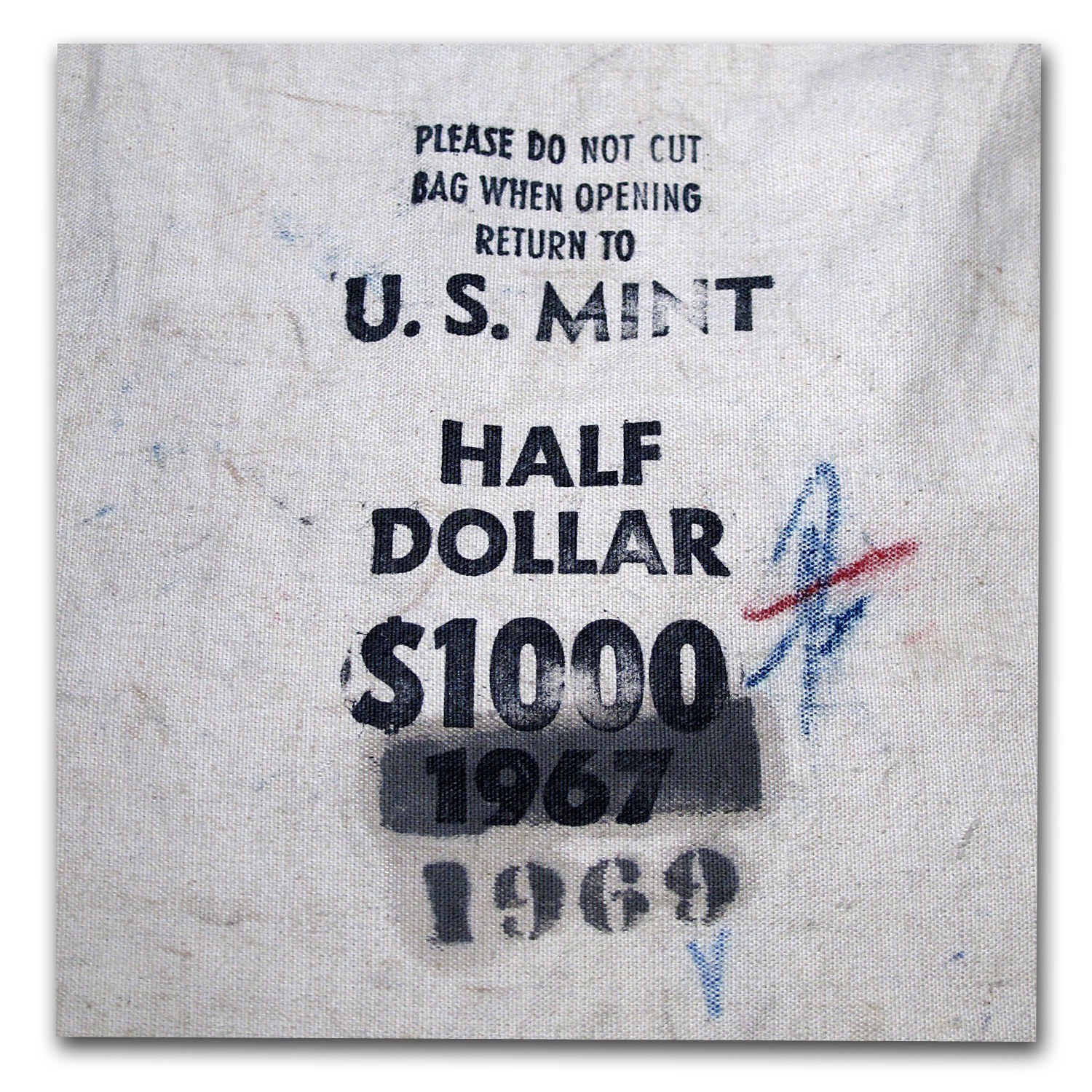 1969-D 40% Silver Halves $1,000 Face Value Bag BU (Sealed)