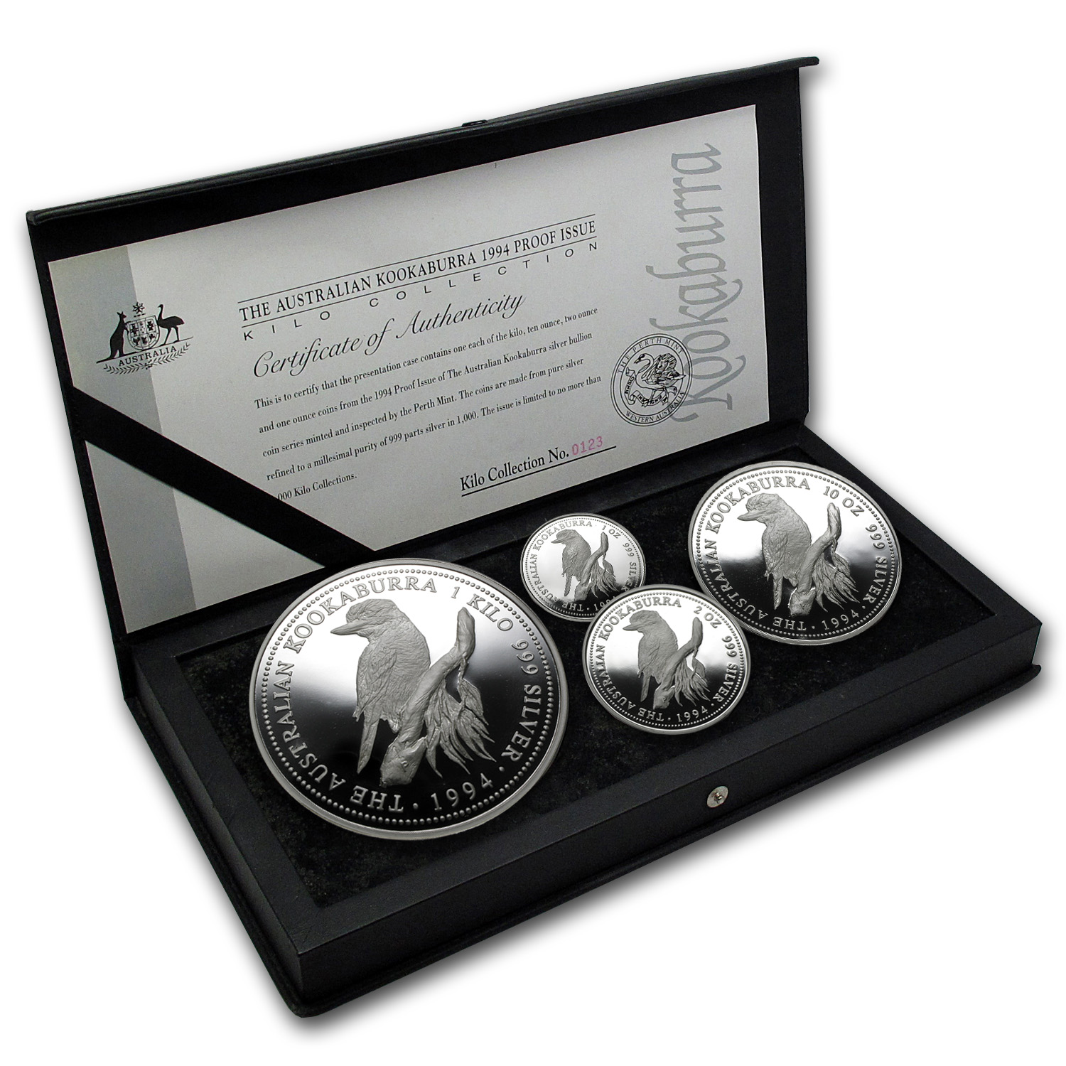 1994 Proof Silver Australian Kookaburra 4 Coin Set