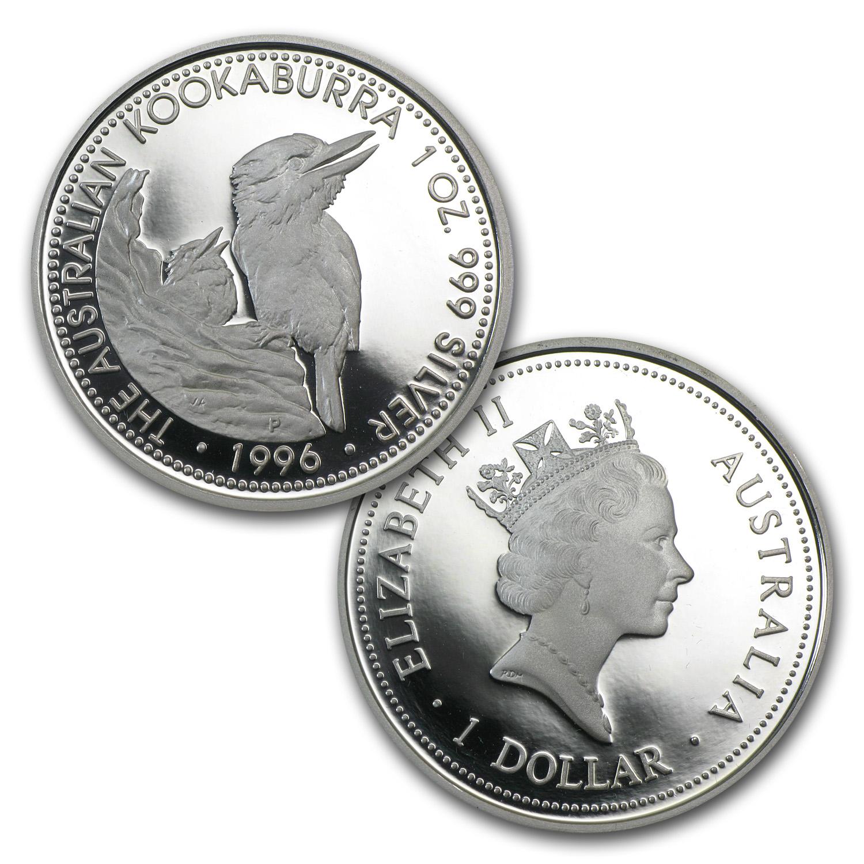 1996 Australia 4 Coin Silver Kookaburra Proof Set No Coa