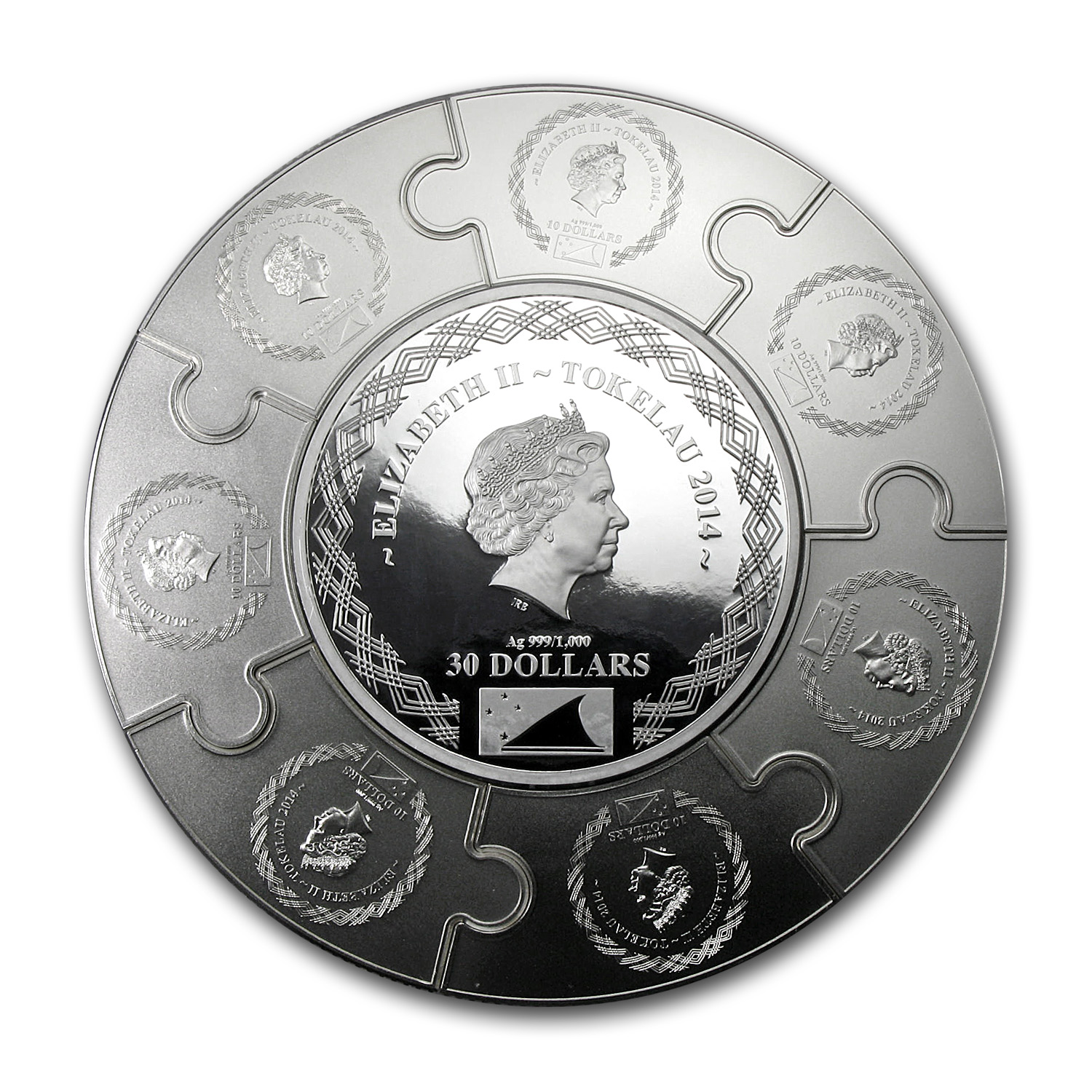 2014 Tokelau 1 Kilo Silver 100 Apostle James Proof