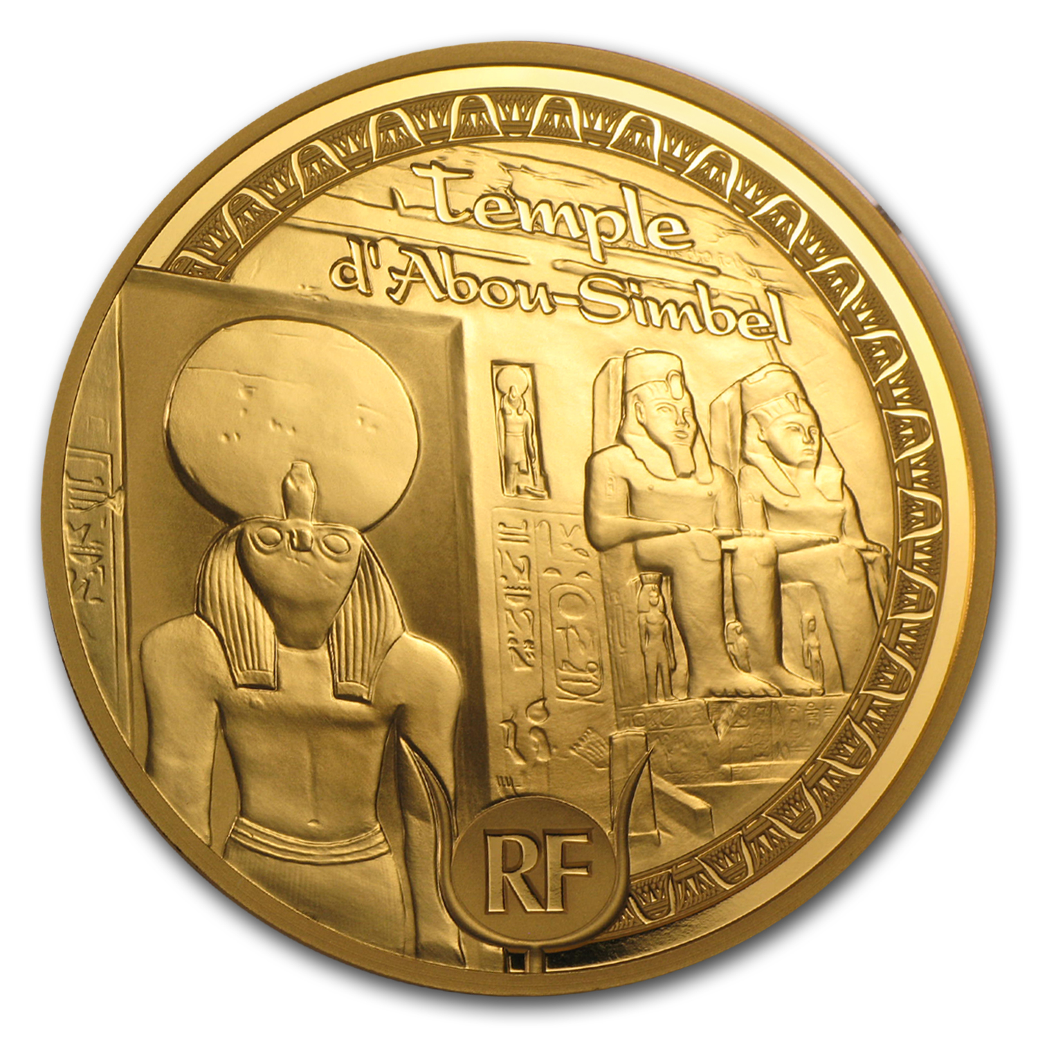 2012 5 oz Gold €500 Proof Egyptian Heritage - Abu Simbel (8-8)