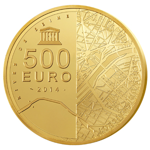 2014 5 oz Proof Gold €500 Eiffel Tower/Palais de Chaillot