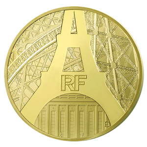 2014 5 oz Proof Gold €500 Eiffel Tower/Palais de Chaillot (2-17)