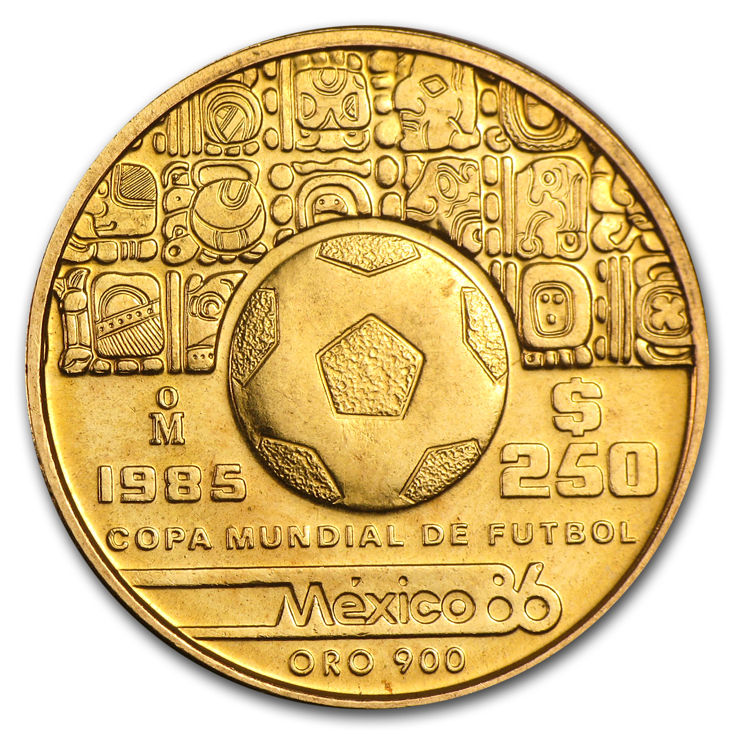 1985 Mexico Gold 250 Pesos BU