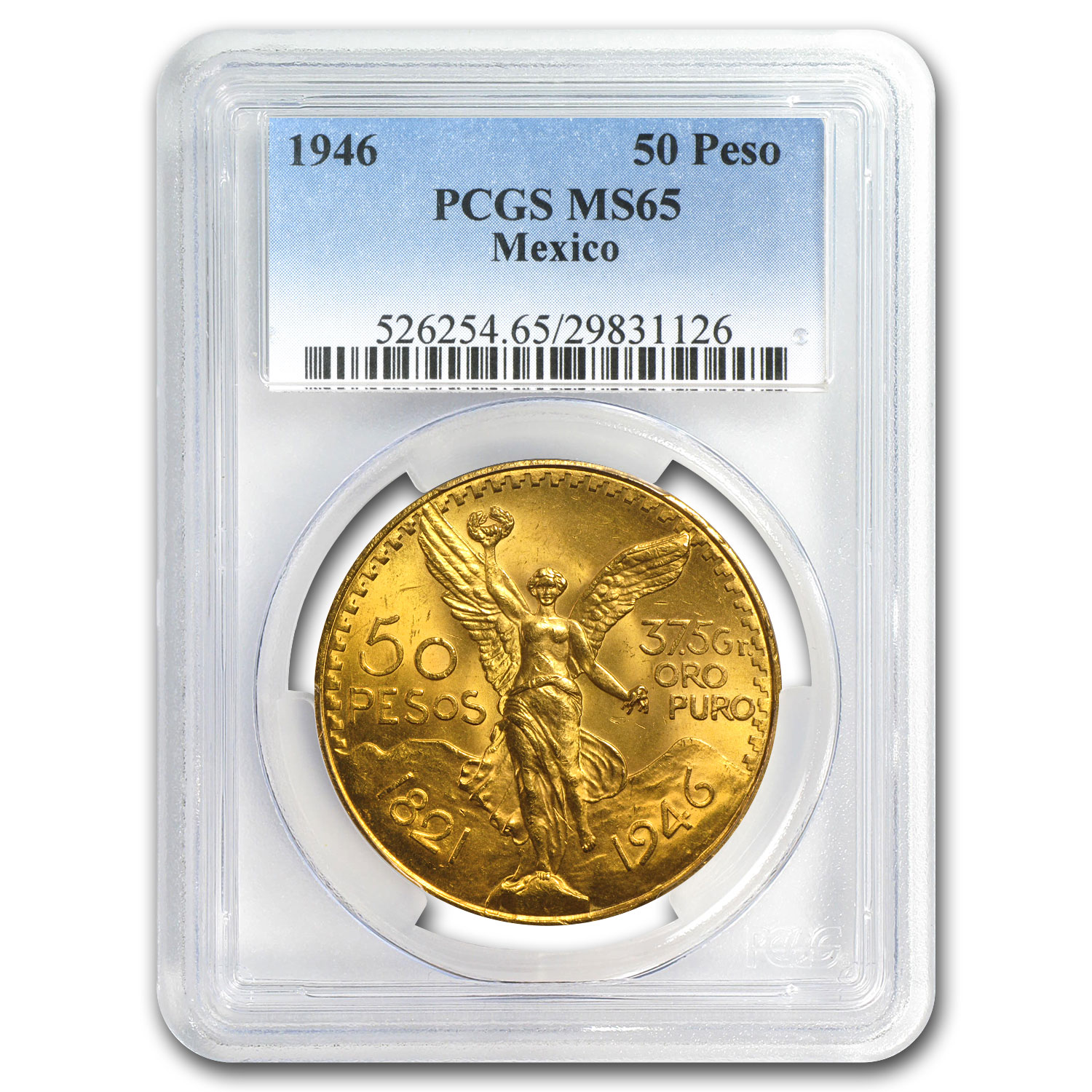 1946 Mexico Gold 50 Pesos MS-65 PCGS