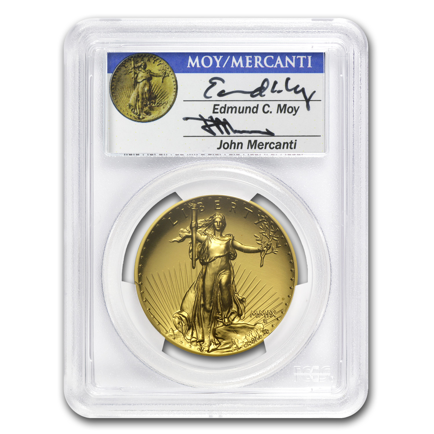 2009 Ultra High Relief Double Eagle MS-70 PCGS (Dual Signature)