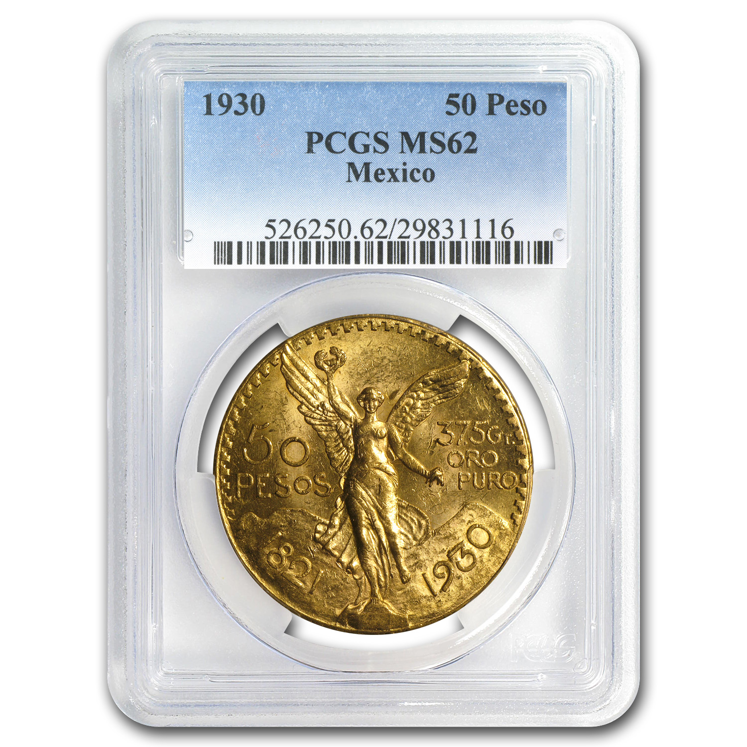 1930 Mexico Gold 50 Pesos MS-62 PCGS